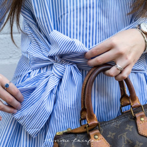 Blue Topaz & Blue Striped Shirt Dress (Only $21!)