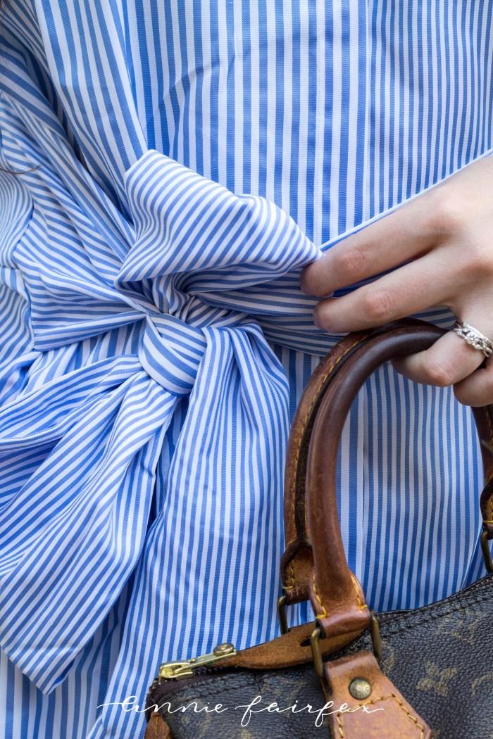 Blue Topaz & Blue Striped Shirt Dress (Only $21!)