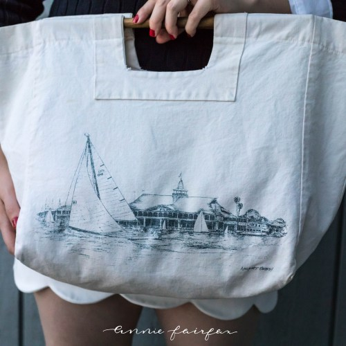 Sailboat Bag & Cableknit