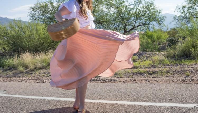 Pink Pleats to Beat the Desert Heat