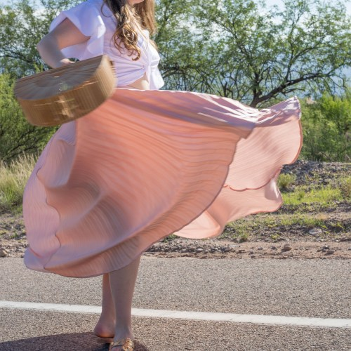 Pink Pleats to Beat the Desert Heat
