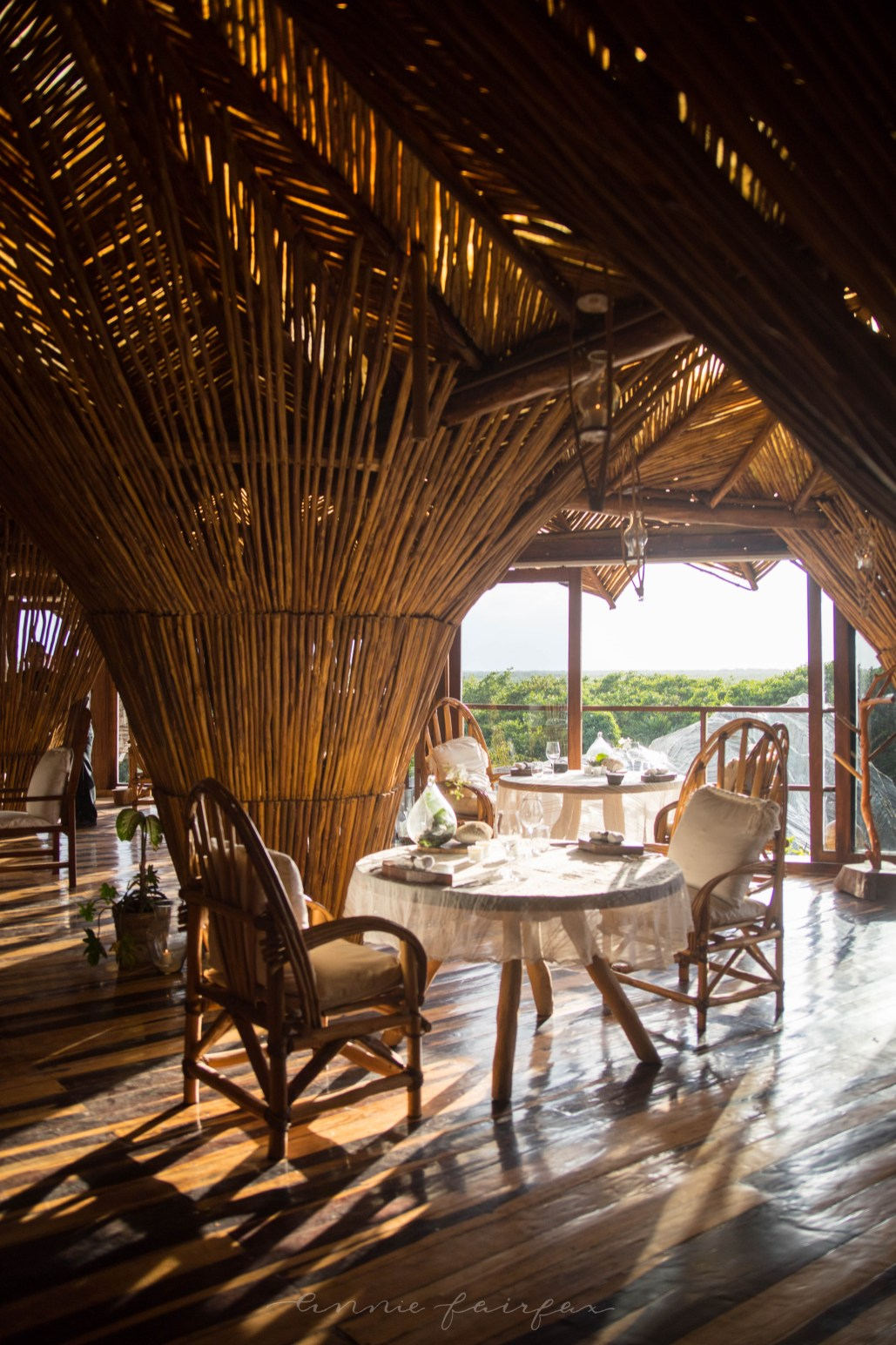 Kin Toh Tree House Nest Restaurant at Azulik Resort Tulum, Mexico View of Jungle Best Places to Eat in Tulum Mexico Quintana Roo Yucatan
