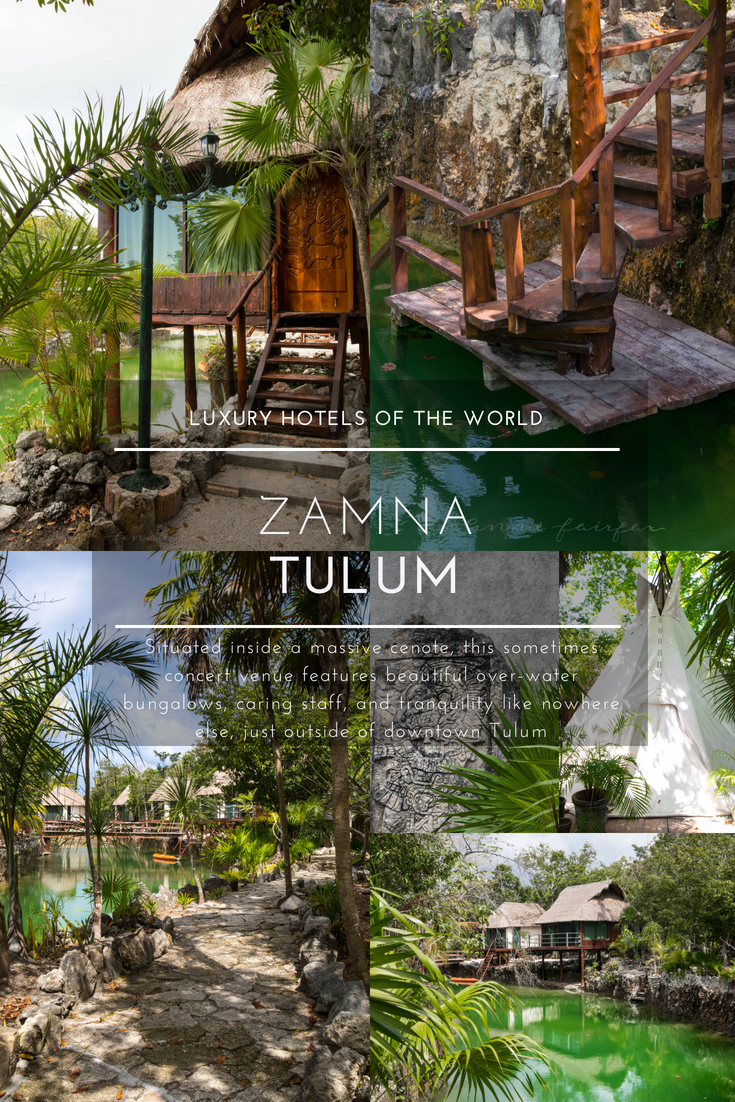 Zamna Tulum Overwater Bungalows Concert Venue Cenote Hotel Luxury Hotels of the World