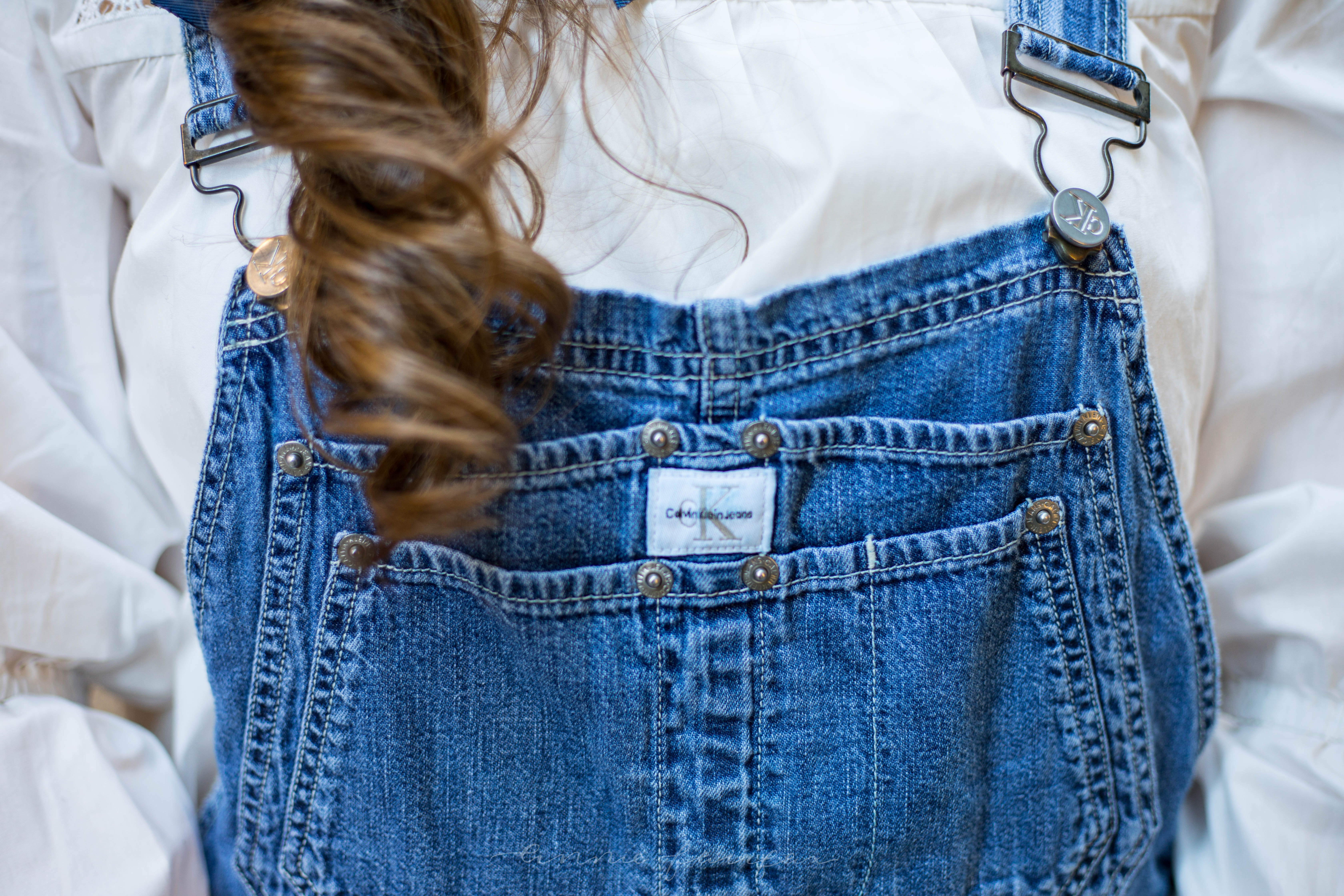 *Feathered Pour La Victoire Shoes Denim Overalls Elegant Bell Sleeve Embroidered Free People Top