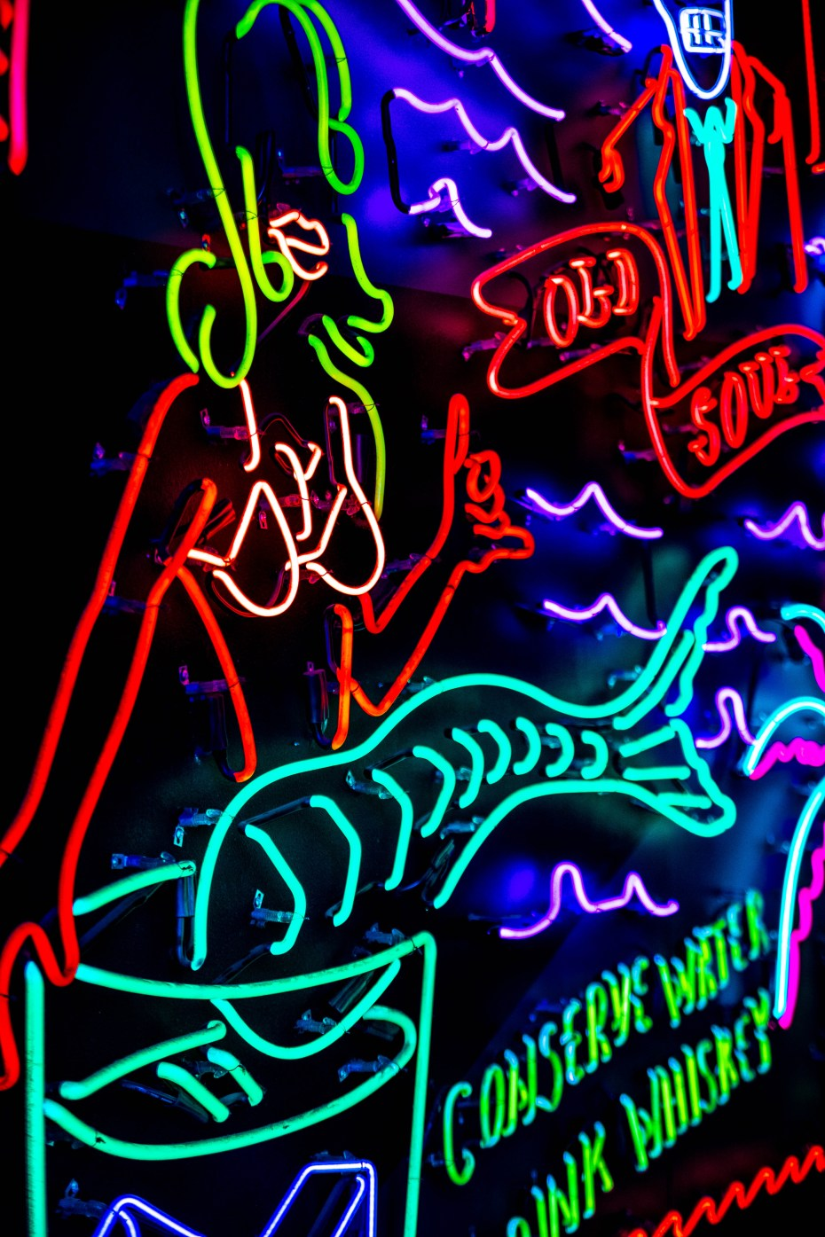 Neon Signs at Grand Central Market in Los Angeles