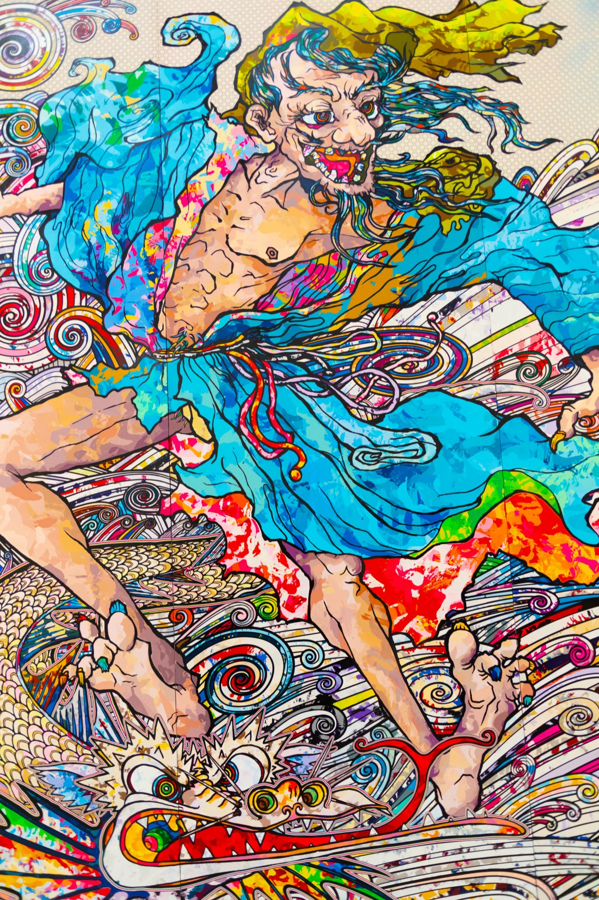 In the Land of the Dead, Stepping on the Tail of a Rainbow by Takashi Murakami at The Broad Art Museum in Los Angeles