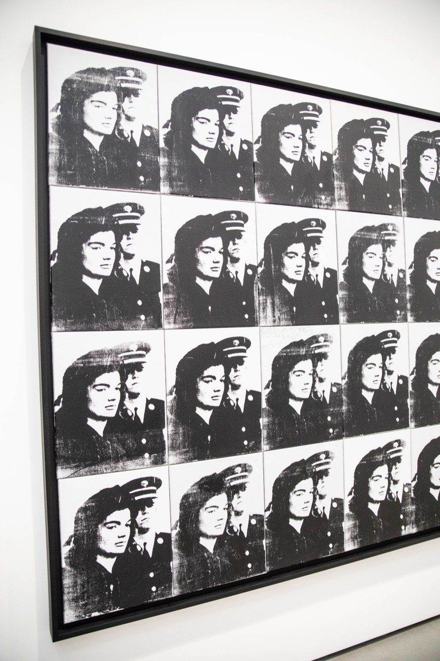 Twenty Jackies by Andy Warhol at The Broad Museum in Los Angeles Portraits of Jackie Kennedy