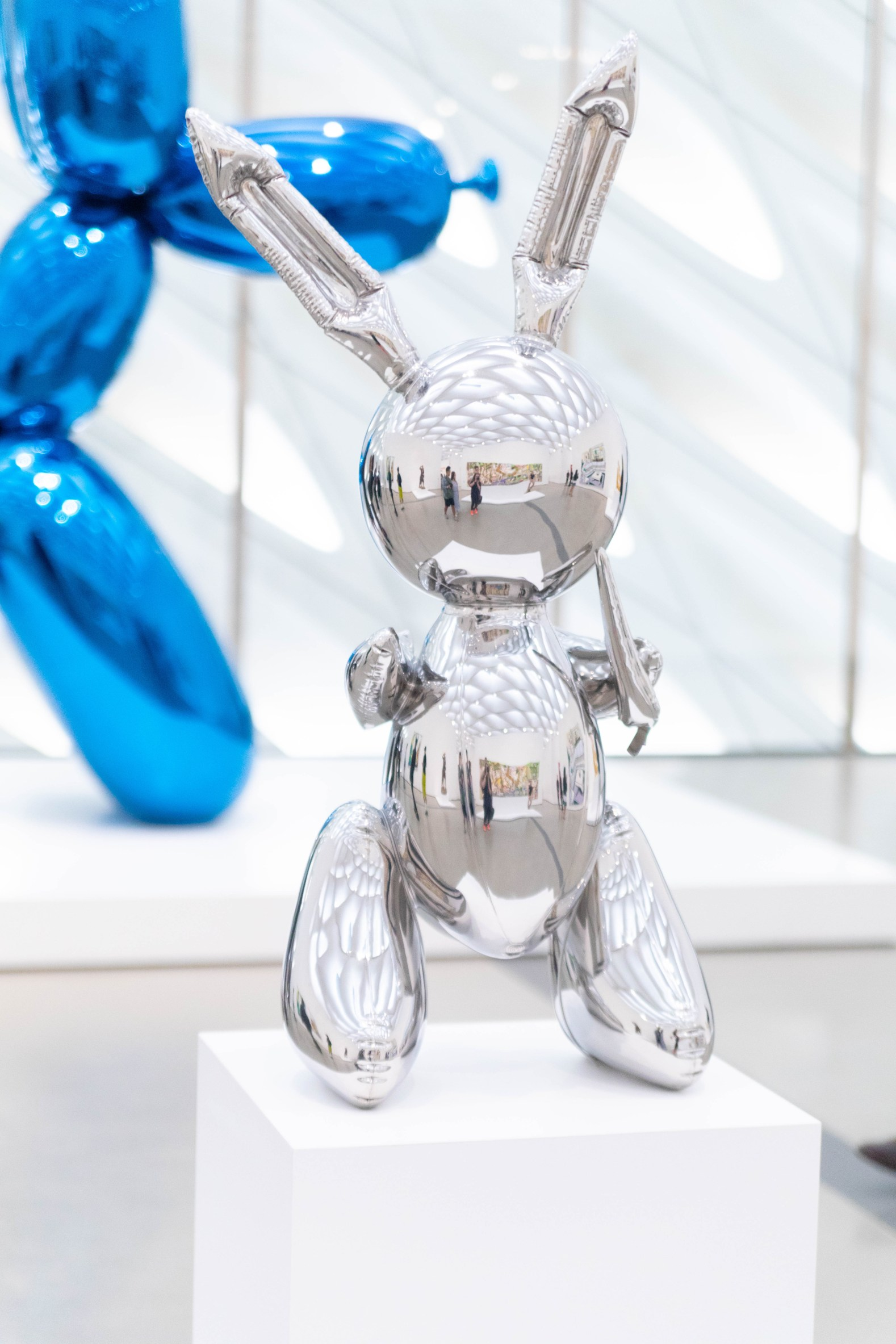 Balloon Dog (Blue) by Jeff Koons at The Broad Museum in Los Angeles