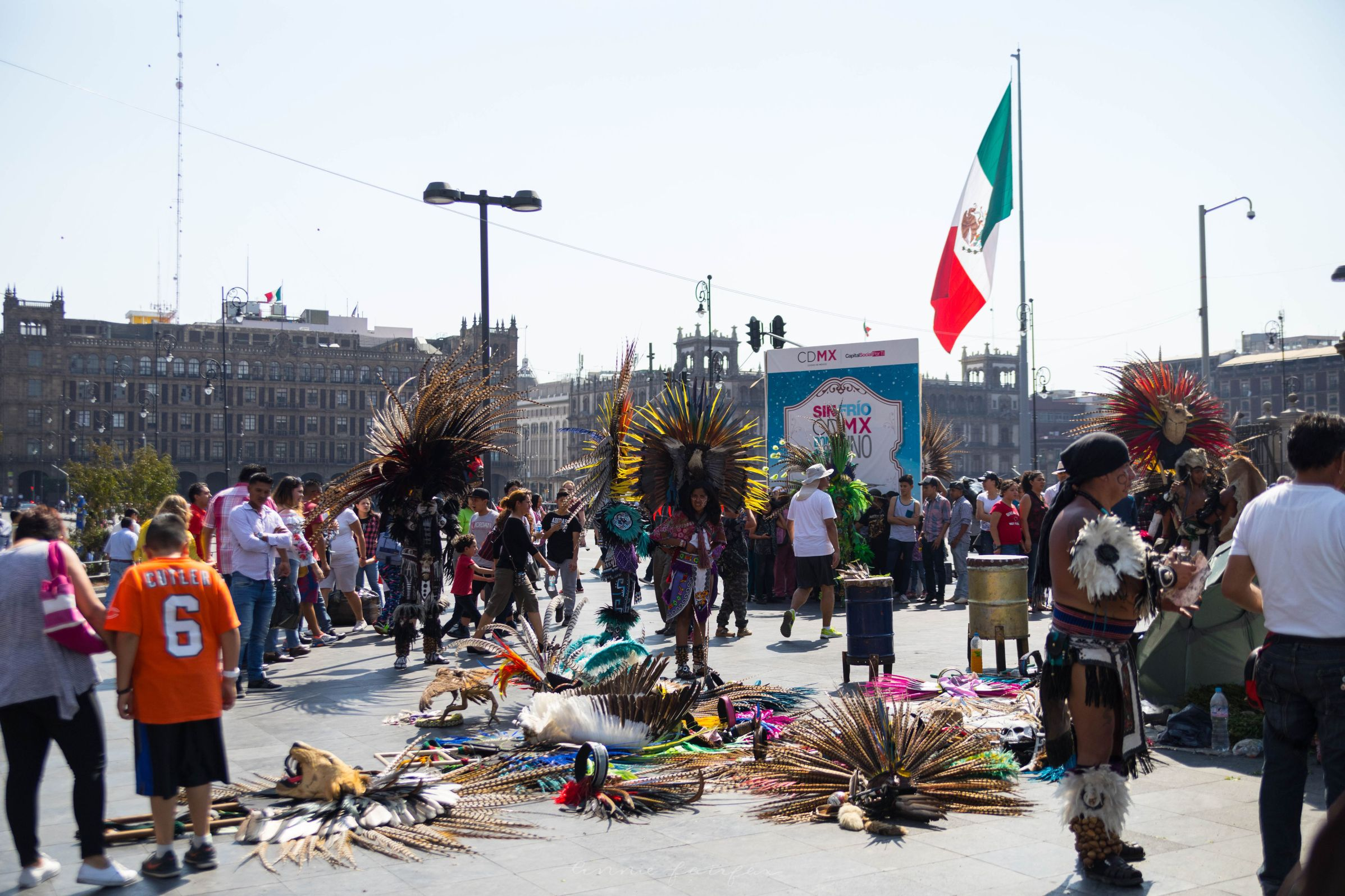 Native Dancers Outside The Metropolitan Cathedral (Catedral Metropolitana) The Complet4e Traveler's Guide to Mexico City Mexico Where to Stay What to Eat Where to Visit What to Do Places to Avoid How to Stay Safe in Mexico City