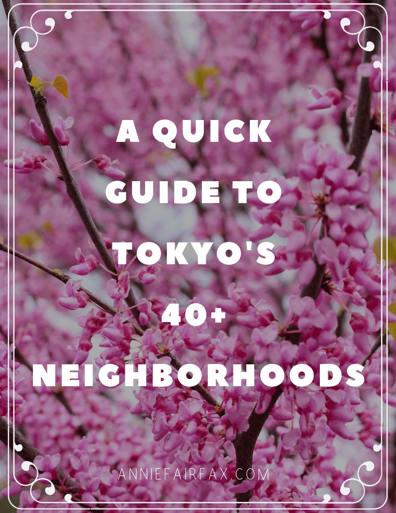 A Quick Guide to Tokyo's 47 Neighborhoods