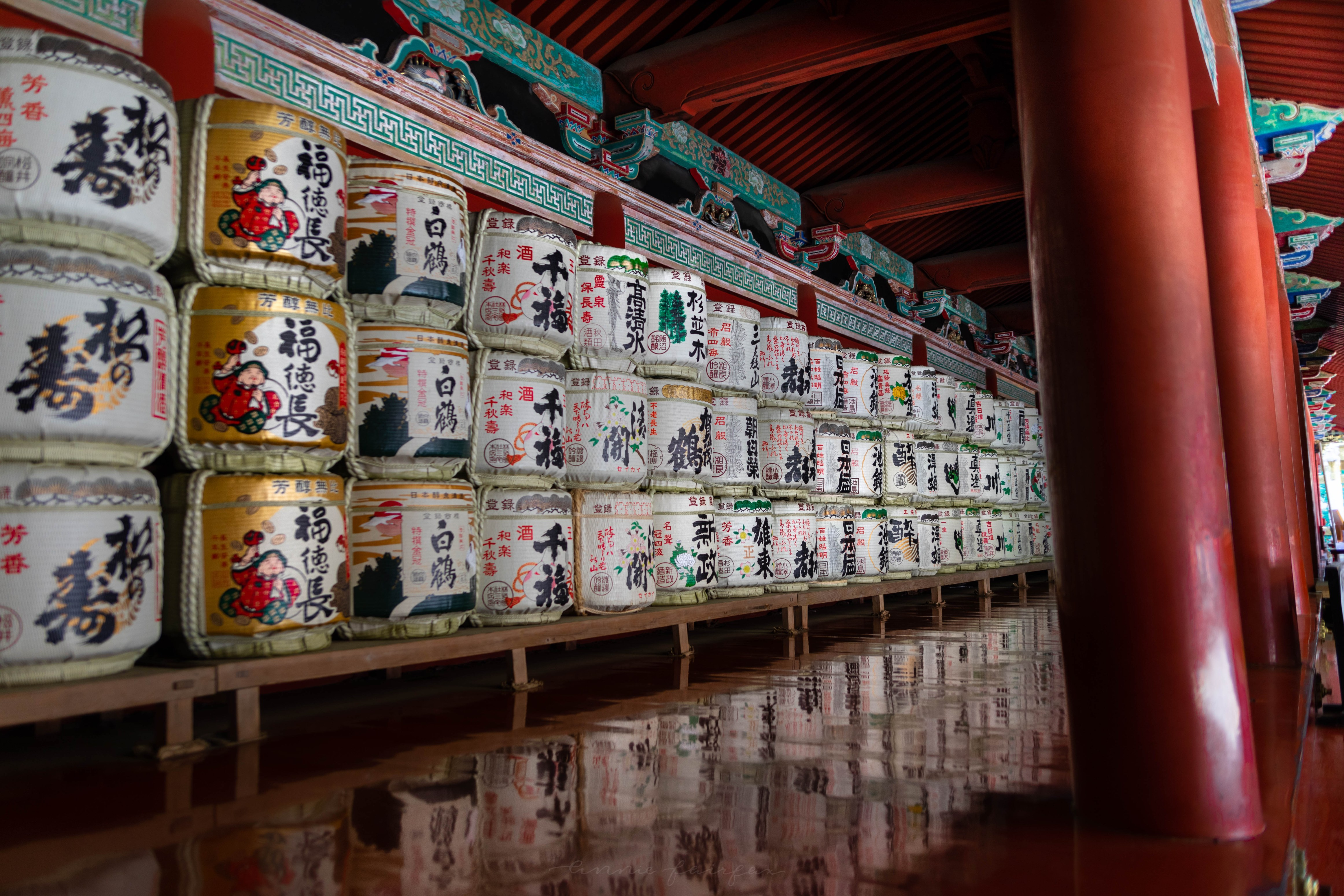 Sake Barrels Temples and Shrines in Nikko, Japan, the Ultimate Travel Guide Written, Researched, and Photographed by Travel Writer & Photographer Annie Fairfax