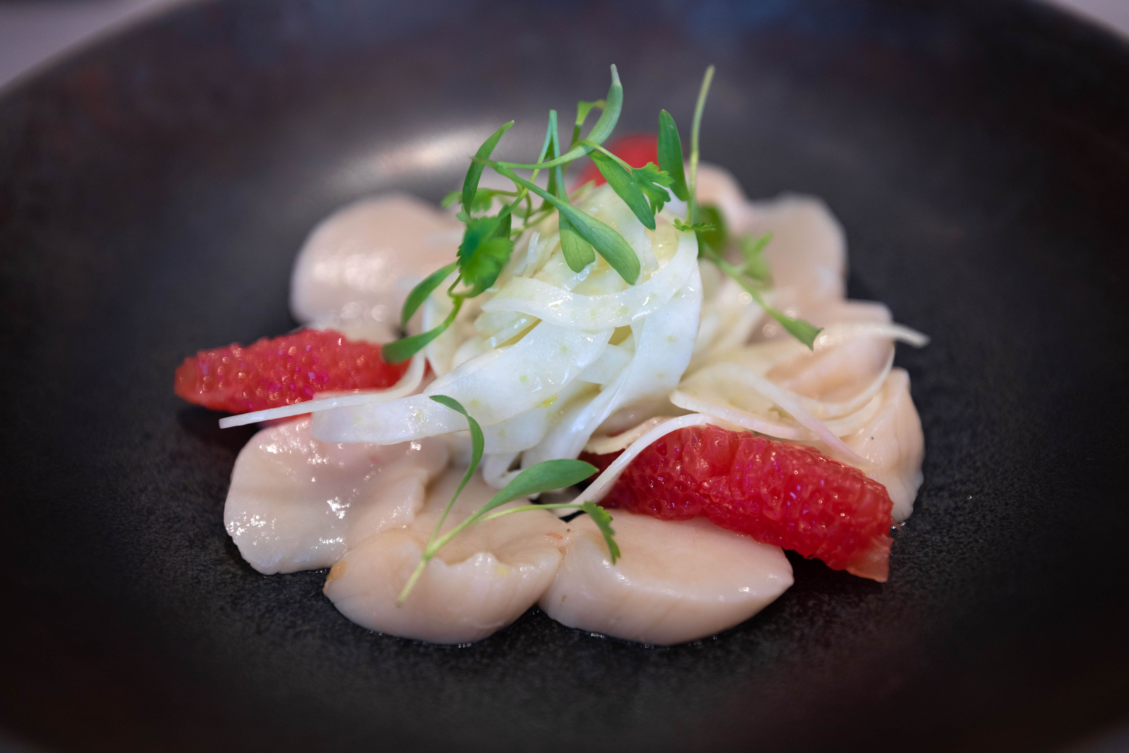 Scallop Ceviche Luxury Restaurants of the World Bo & Birdie Blythswood Glasgow Scotland Fine Dining