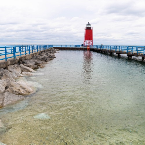 Charlevoix South Pier Light Station Lighthouse The Beautiful Northern Michigan Summer Fall Midwest Travel Beach Lake Destination