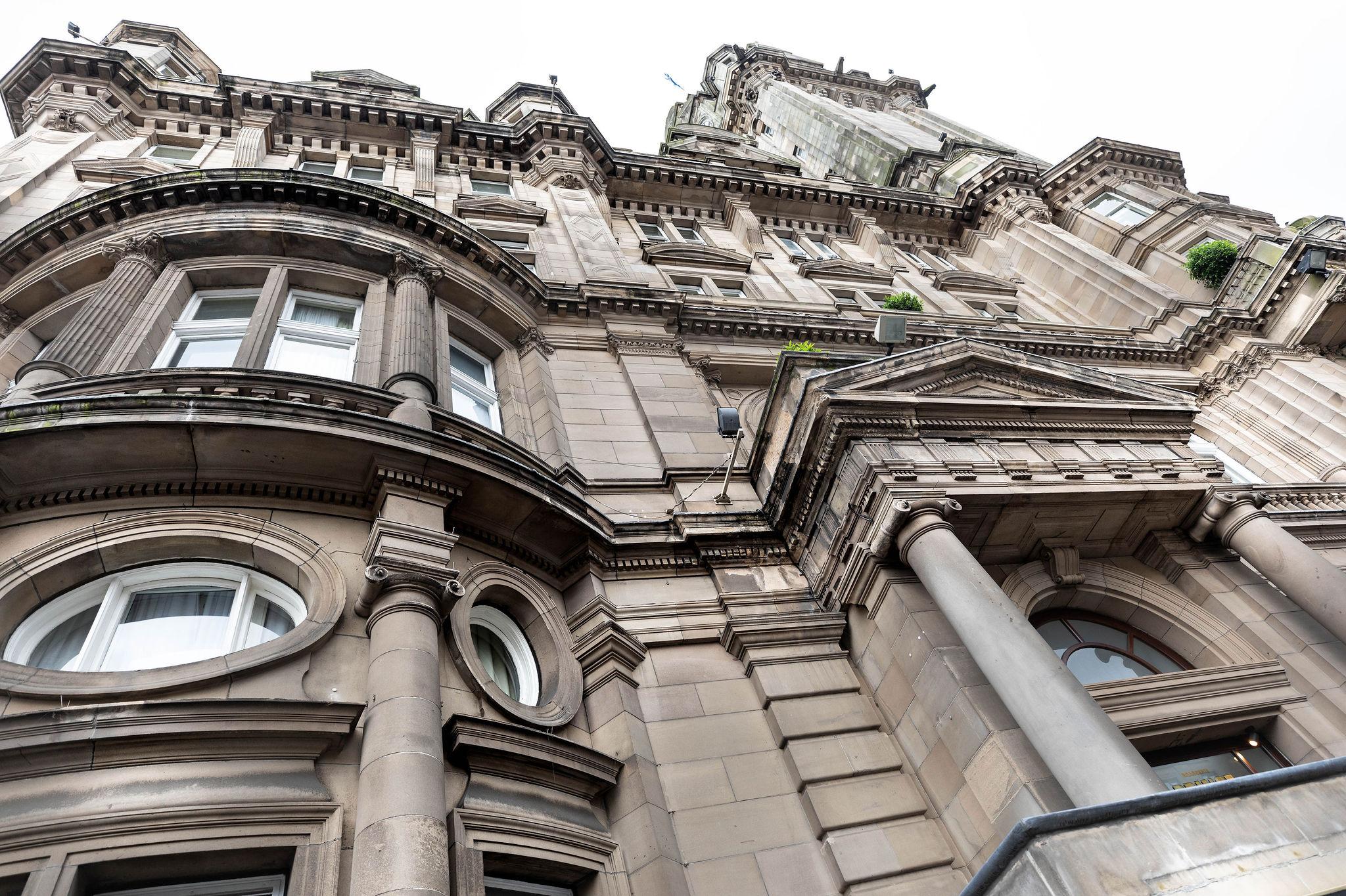 Exterior of The Scotsman Hotel in Edinburgh, Scotland
