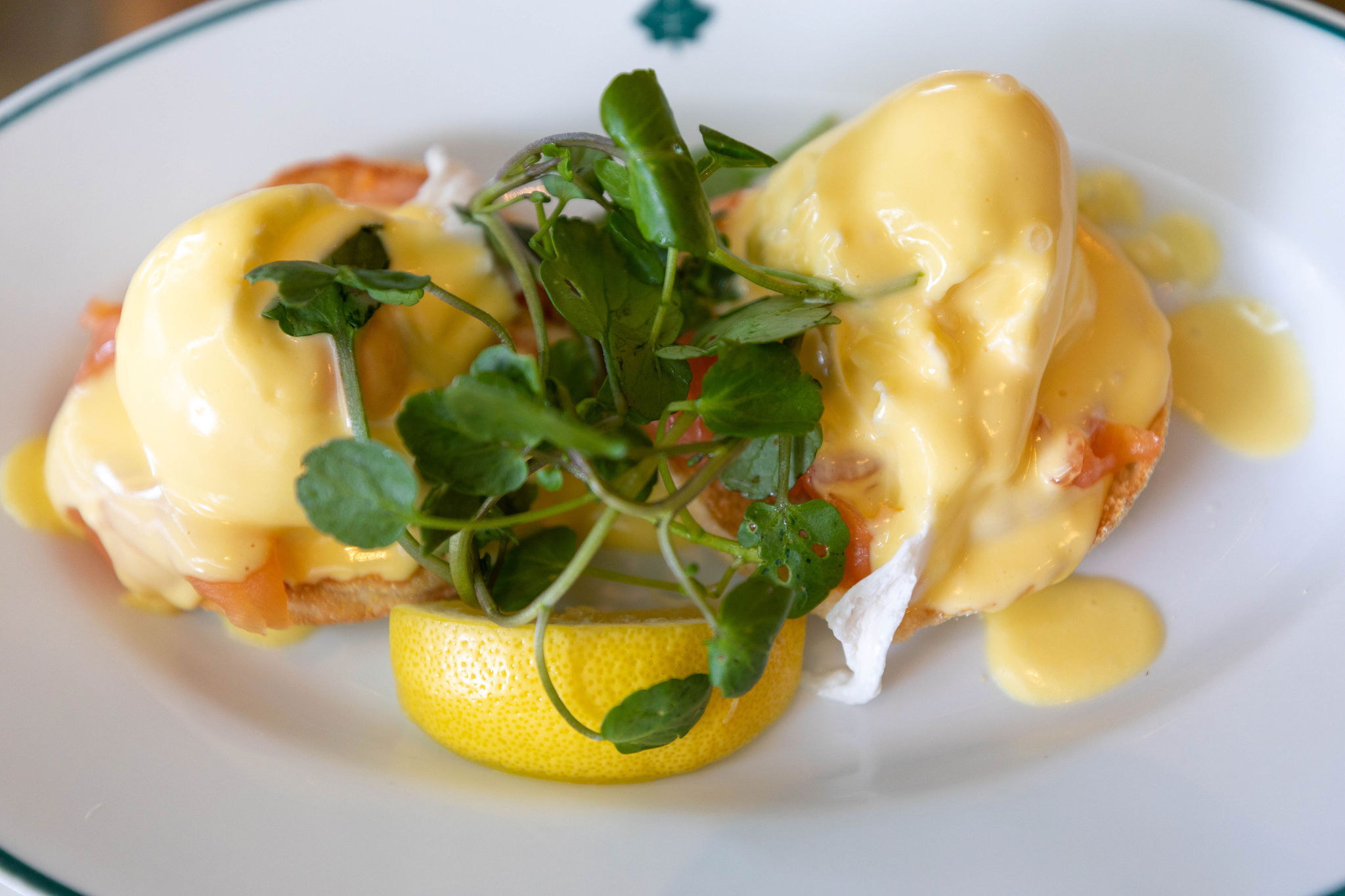 Salmon Eggs Benedict at The Ivy Edinburgh Scotland Vegan and Vegetarian Fine Dining