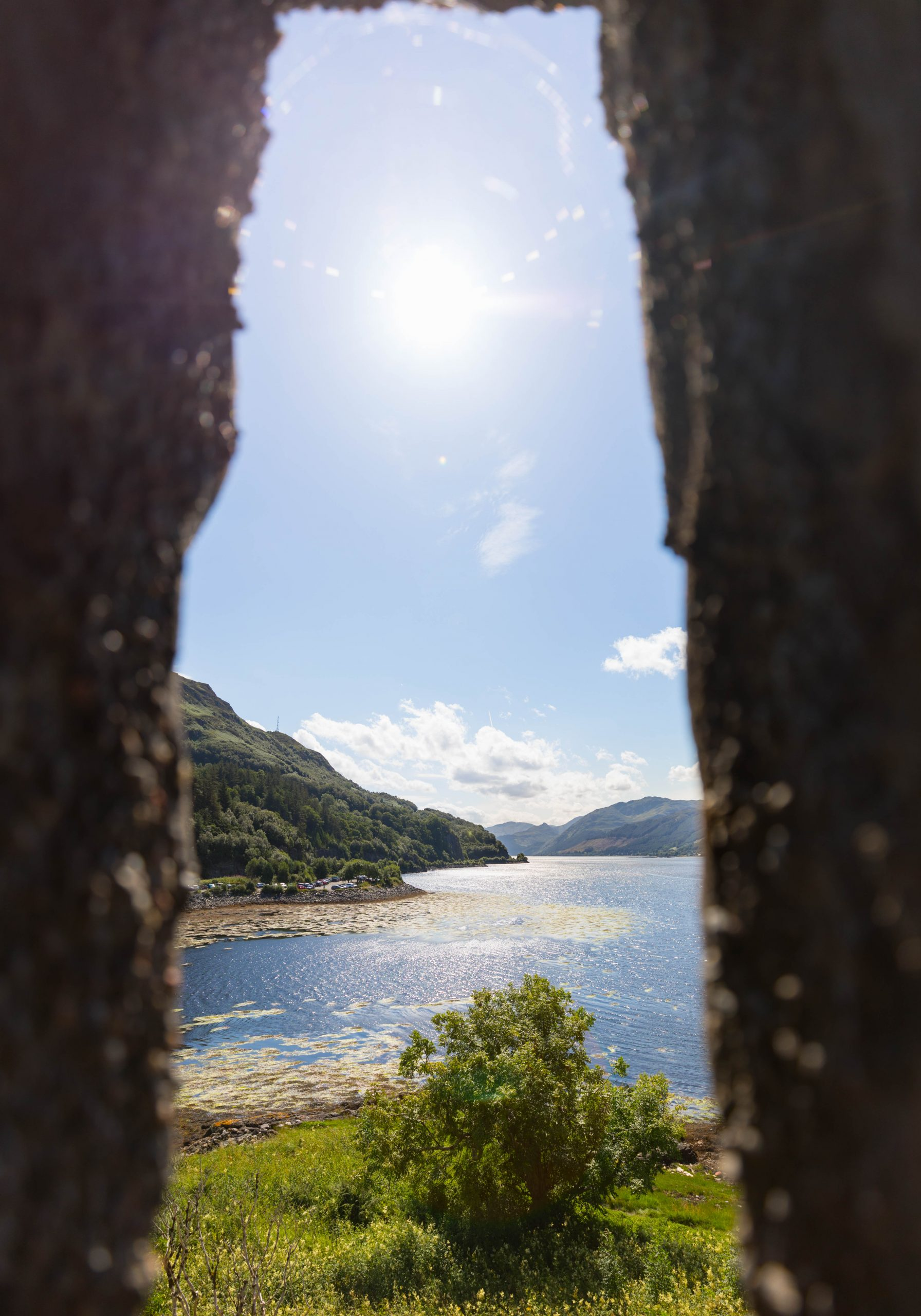 Looking Out Eilean Donan Castle Windows Dornie Isle of Skye Scotland by Annie Fairfax