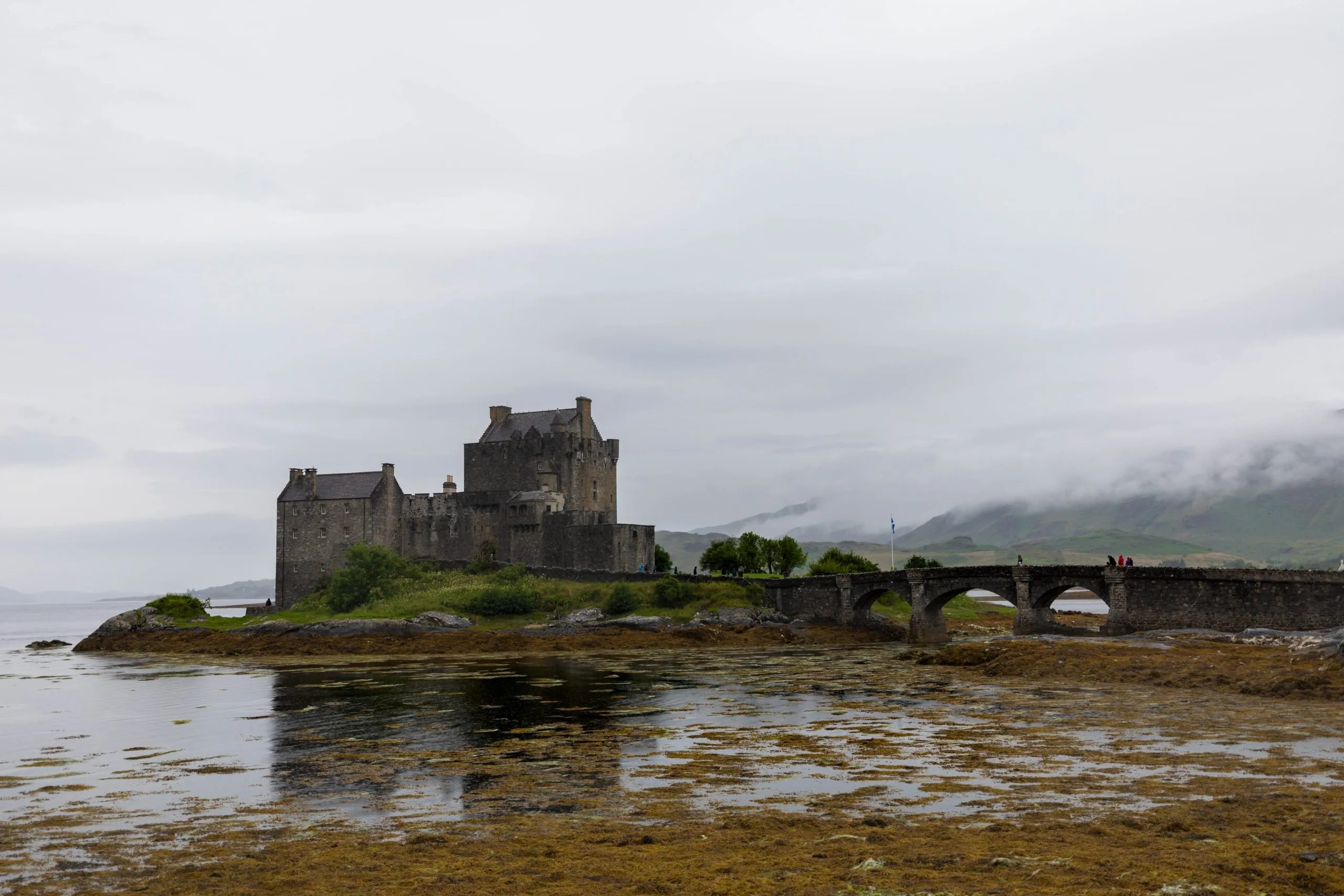 Eilean Donan Castle Dornie Isle of Skye Scotland In the Rain by Annie Fairfax