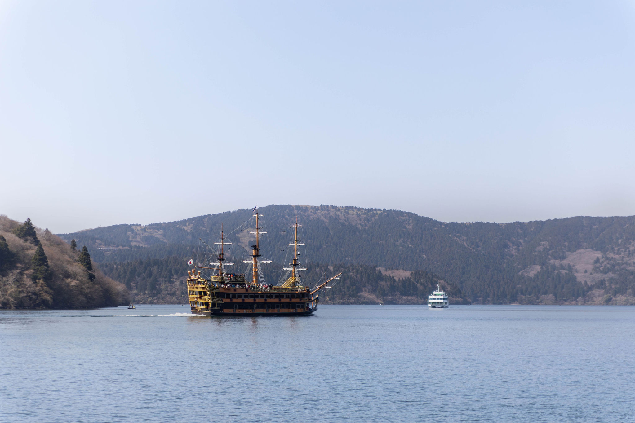 Hakone Japan Pirate Ship Ride Around Lake Ashi