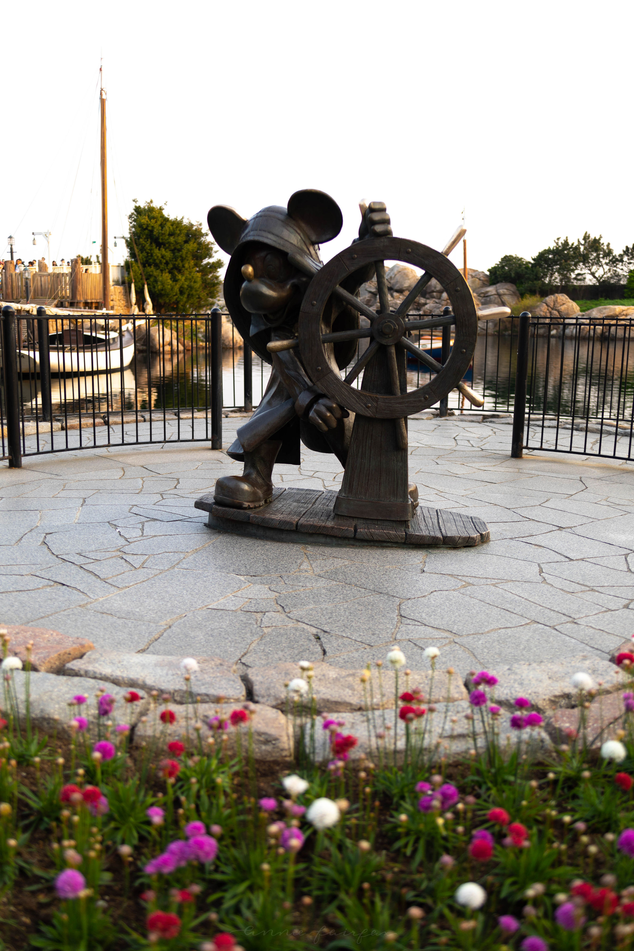 American Waterfront Mickey Mouse Statue at Tokyo DisneySea in Japan