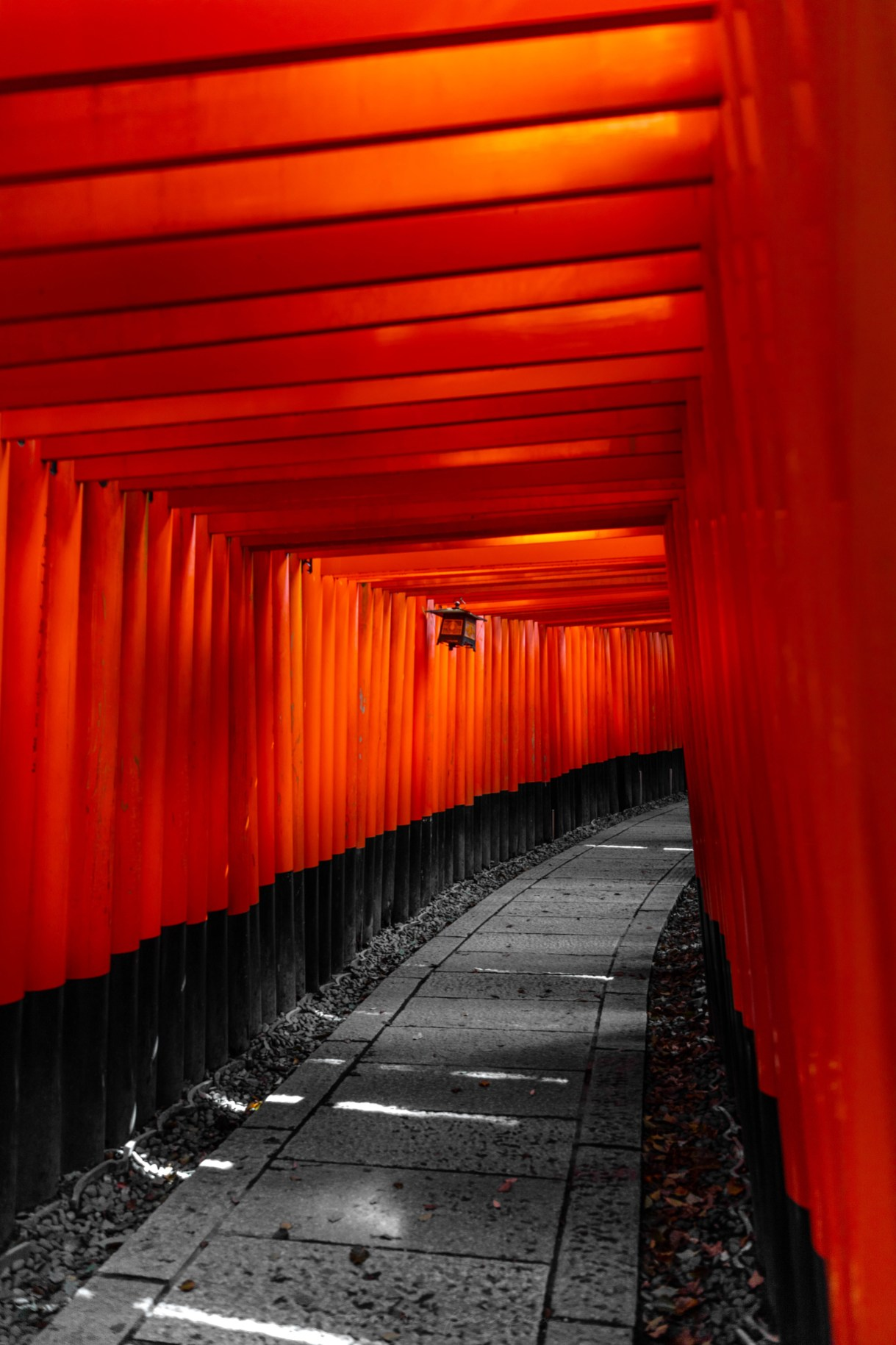 Fushimi Inari Taisha Shrine Thousands of Red Torii Gates in Kyoto Japan