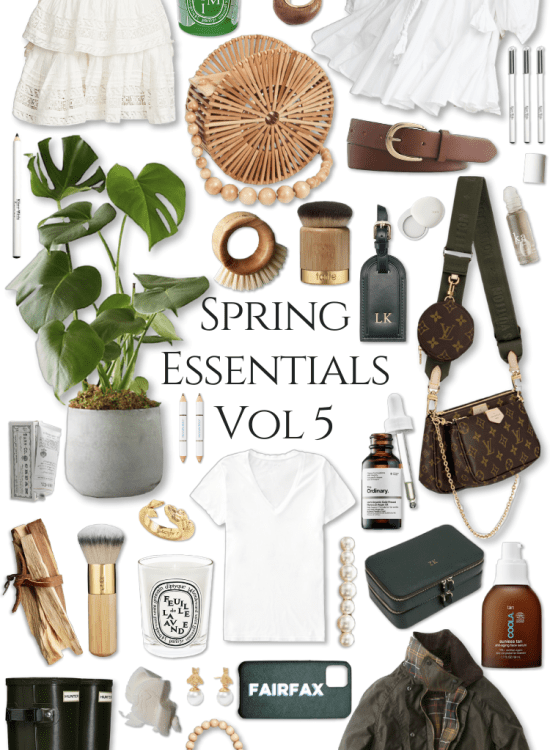 Spring Essentials Volume 5 Greens What to Wear Spring Trends Fashion Clean Beauty Spring Makeover Pink Outfits, Louis Vuitton, Barbour, J. Crew, The Daily Edited, Cult Gaia and More by Annie Fairfax