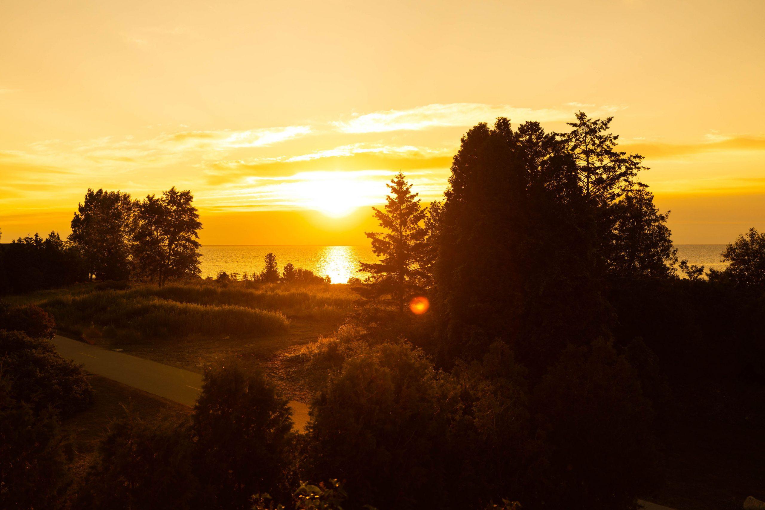 Sunset Over Mission Point Resort on Mackinac Island Michigan by Annie Fairfax @AnnieFairfax