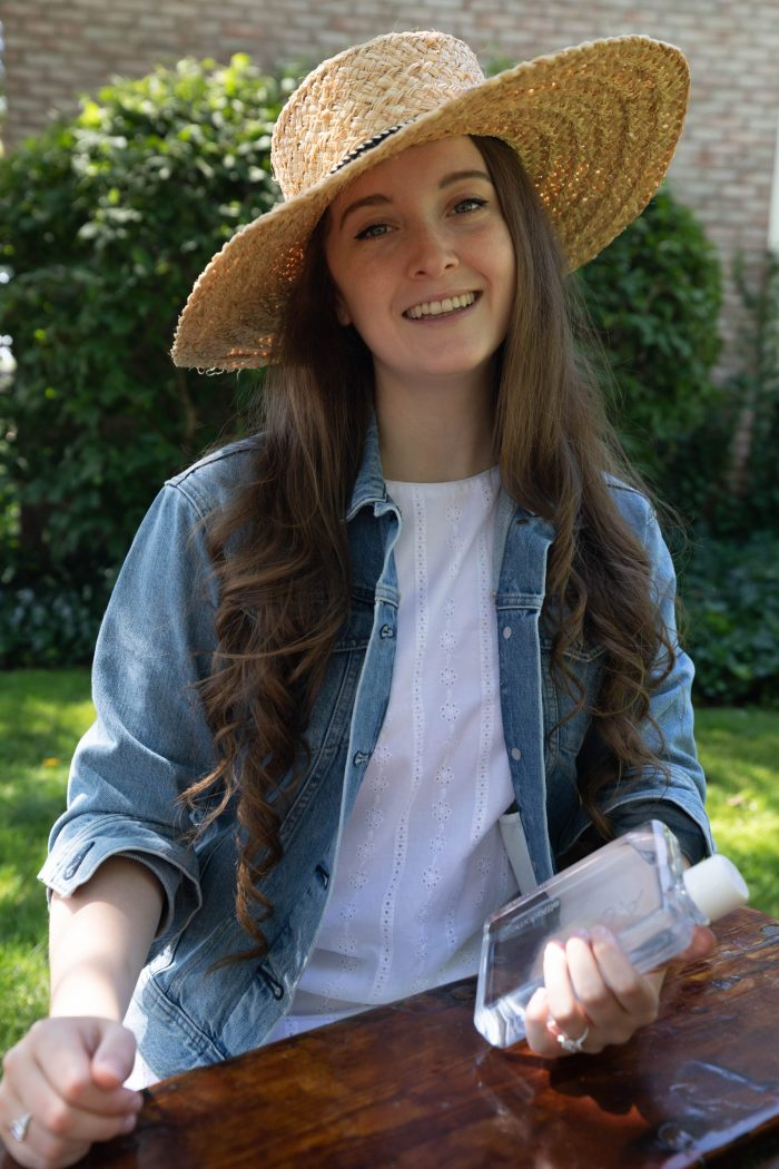 Denim, Eyelet, and Seagrass for Summertime