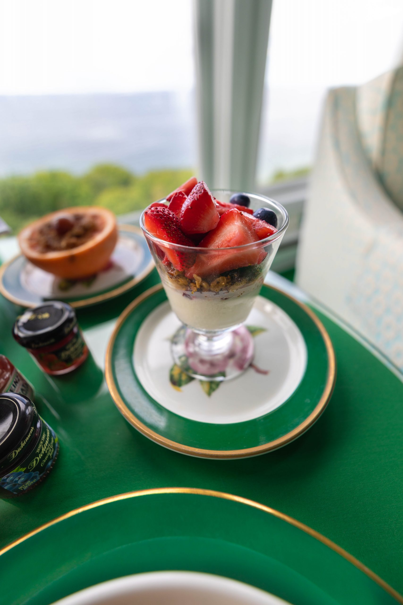 Panna Cotta at Mackinac Island Grand Hotel in Northern Michigan by Annie Fairfax
