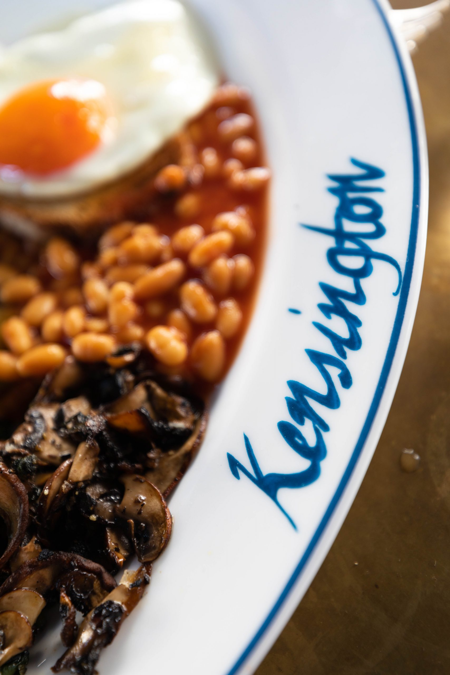 Chuc's Café in South Kensington London, England Full English Breakfast Vegetarian by Annie Fairfax