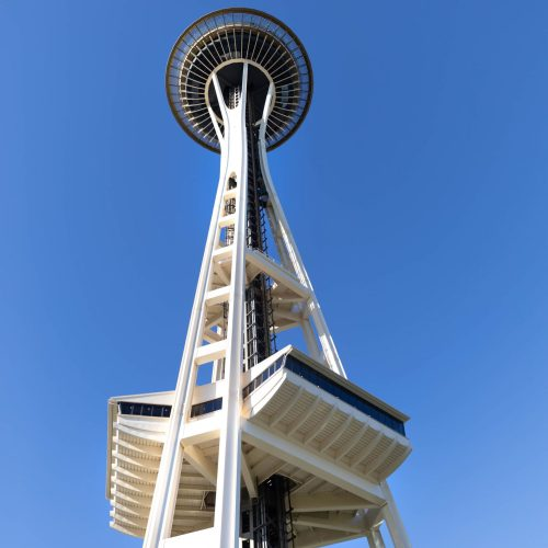 Seattle Space Needle in Seattle Washington by Annie Fairfax