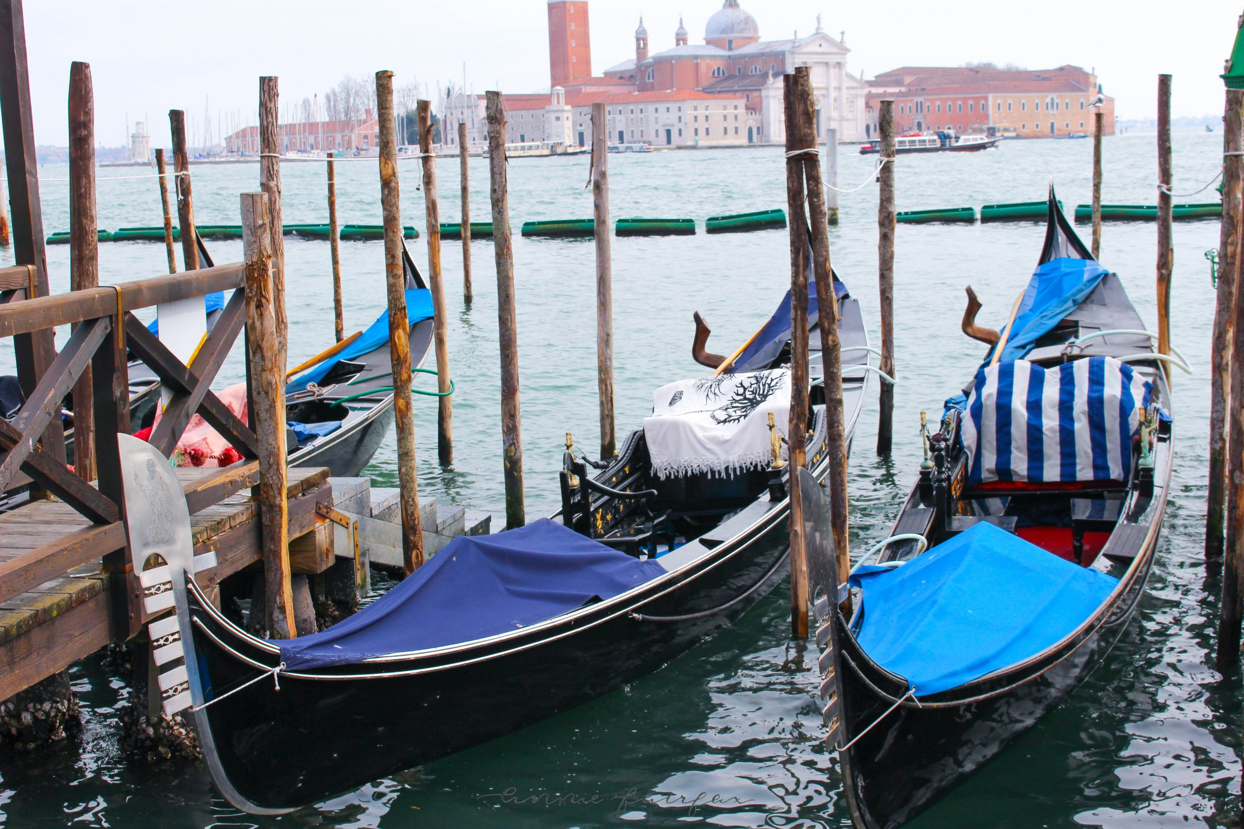 Blue Gondolas The Best Things to Eat, See and Do in Venice Italy Luxury Travel Murano Murano by Annie Fairfax