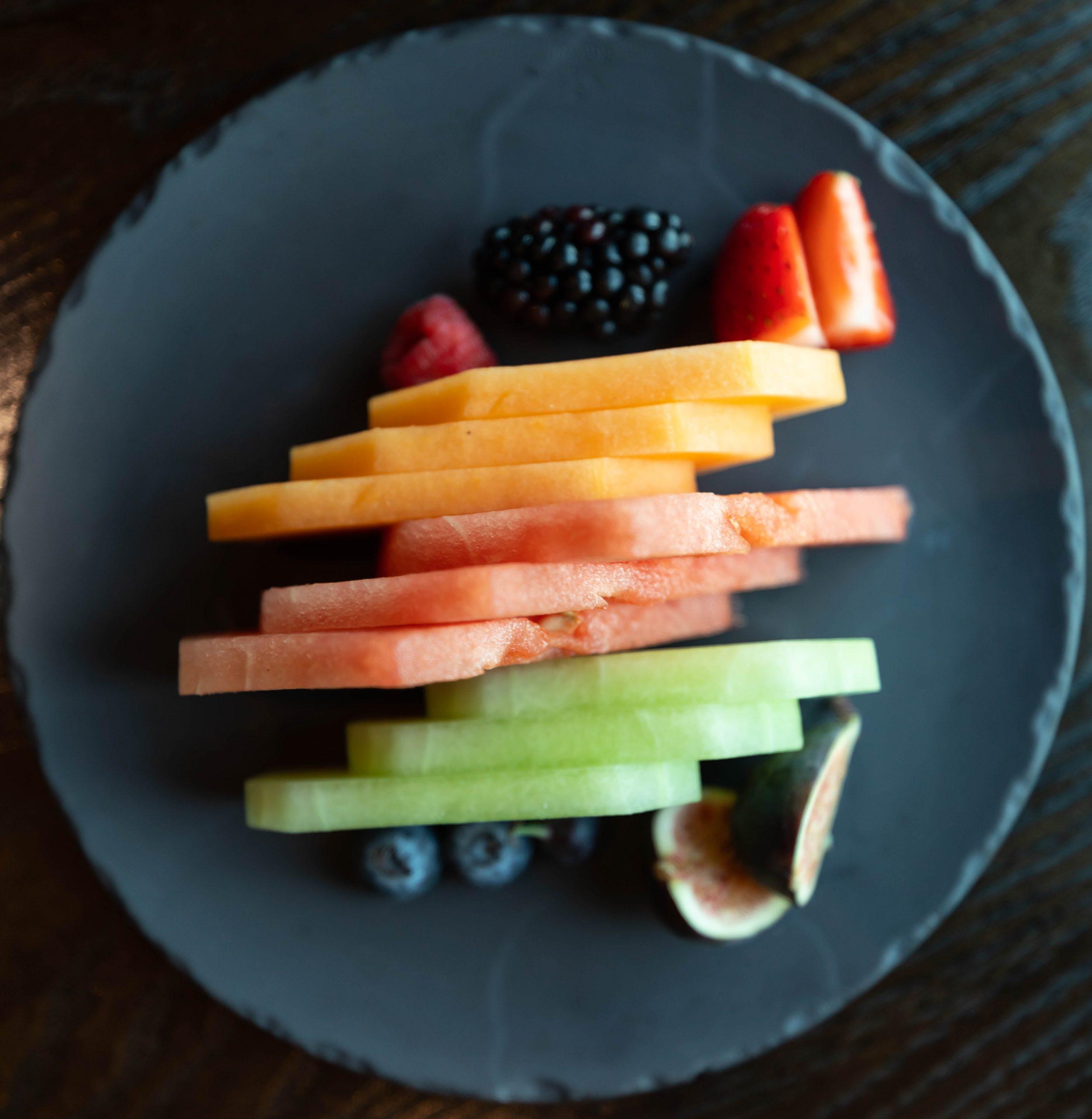 Goldfinch Tavern Fruit Platter Vegan Meal Four Seasons Hotel Seattle Washington by Annie Fairfax for AnnieFairfax.com Luxury Hotels of the World Pacific Northwest Luxury 5-Star Hotels