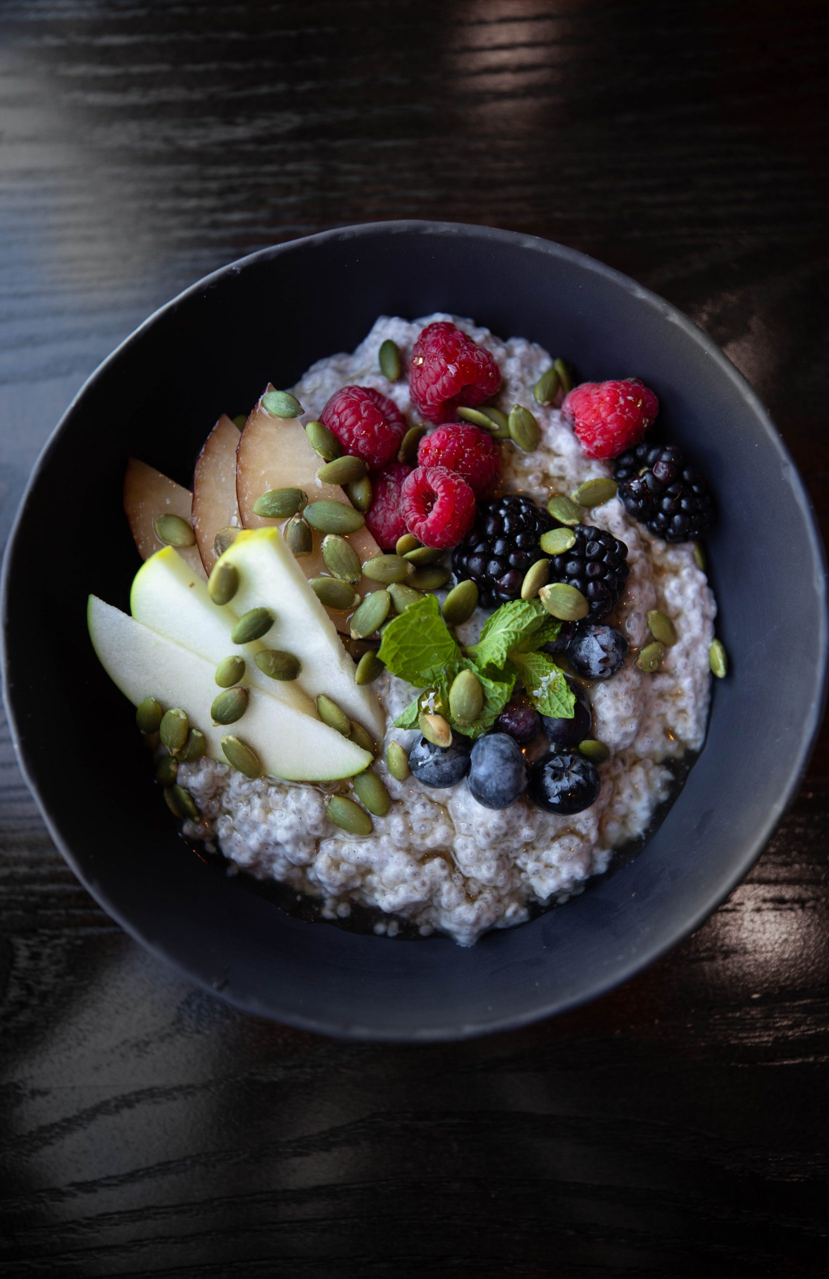 Goldfinch Tavern Chia Seed Pudding Vegan Meal Four Seasons Hotel Seattle Washington by Annie Fairfax for AnnieFairfax.com Luxury Hotels of the World Pacific Northwest Luxury 5-Star Hotels