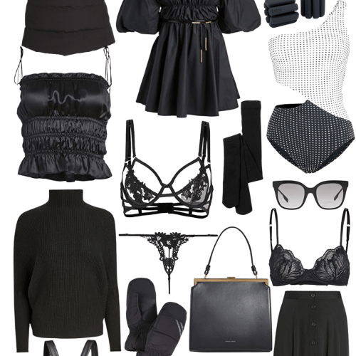 Winter Wardrobe Wishlist Black Winter Warm Weather Feminine Clothing Outfit Ideas