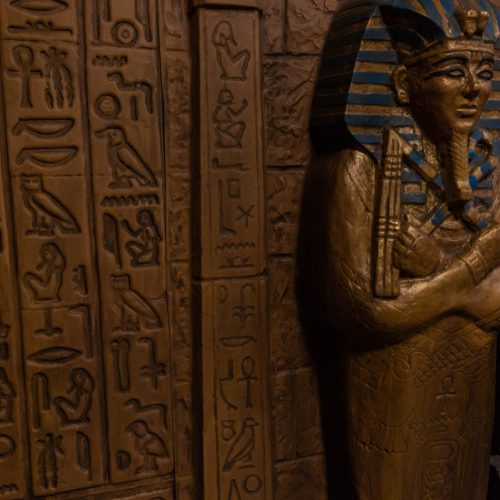 Egyptian Tomb Themed Escape Room at Grand Traverse Resort Photographed by Annie Fairfax