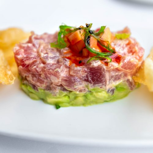 Spicy Tuna Tartar at Joe Muer Seafood in Detroit Inside the GW Renaissance Center Fine Dining Michigan Luxury Restaurants of the World