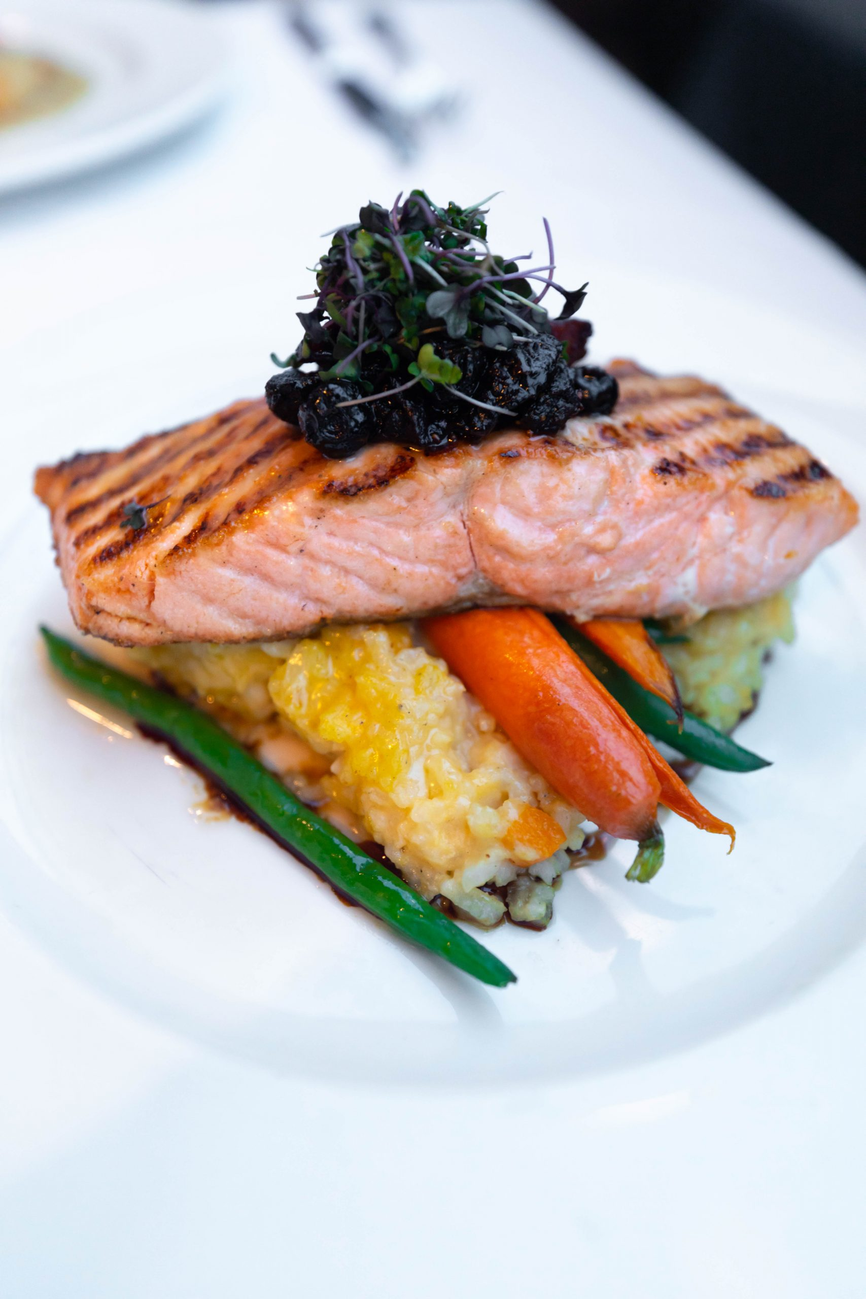 Scottish Salmon at Joe Muer Seafood in Detroit Inside the GW Renaissance Center Fine Dining Michigan Luxury Restaurants of the World