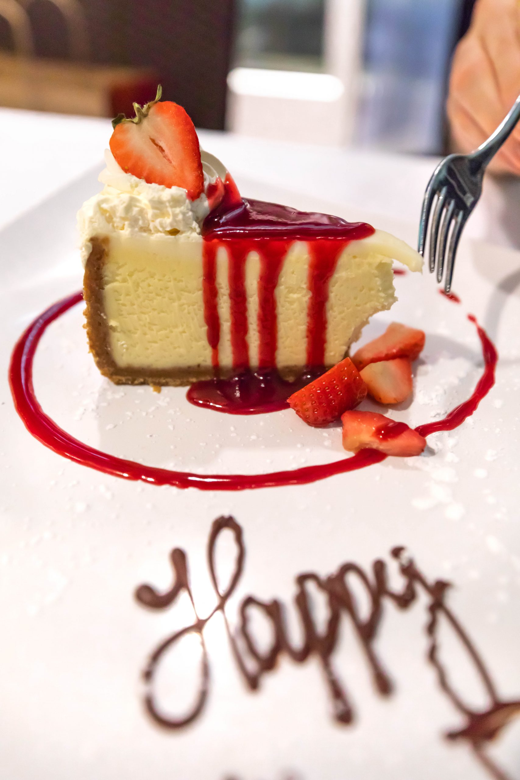 Raspberry Cheesecake at Joe Muer Seafood in Detroit Inside the GW Renaissance Center Fine Dining Michigan Luxury Restaurants of the World