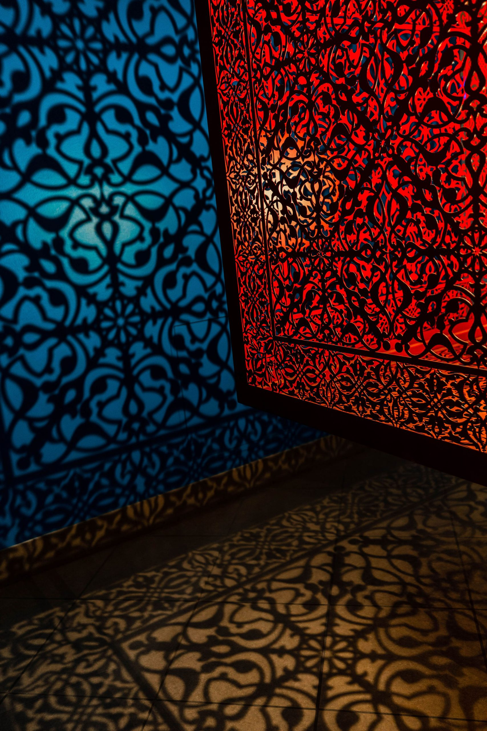 Anila Quayyum Agha Art Installation at Fashion Outlets of Chicago in Rosemont Illinois