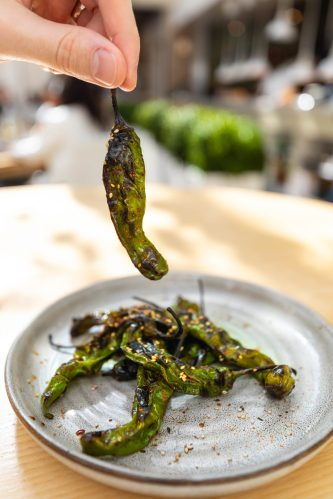 Grilled Shishito Peppers Summer House Santa Monica Vegan Friendly Gluten Free Restaurant in Chicago, Illinois Gold Coast by Annie Fairfax