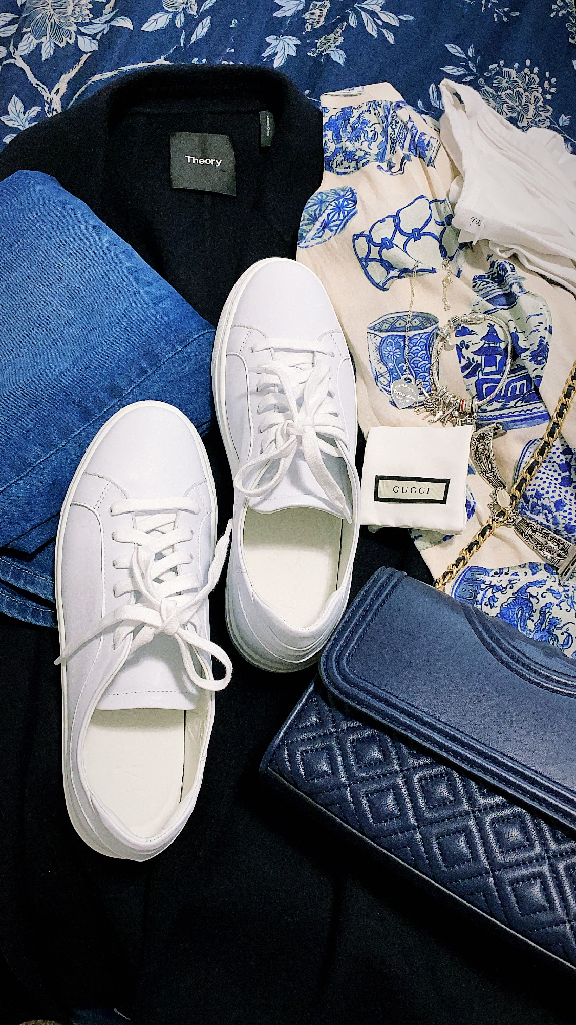 M.Gemi Palestra Due White Leather Sneakers Worn by Annie Fairfax Spring Travel Shoe Style