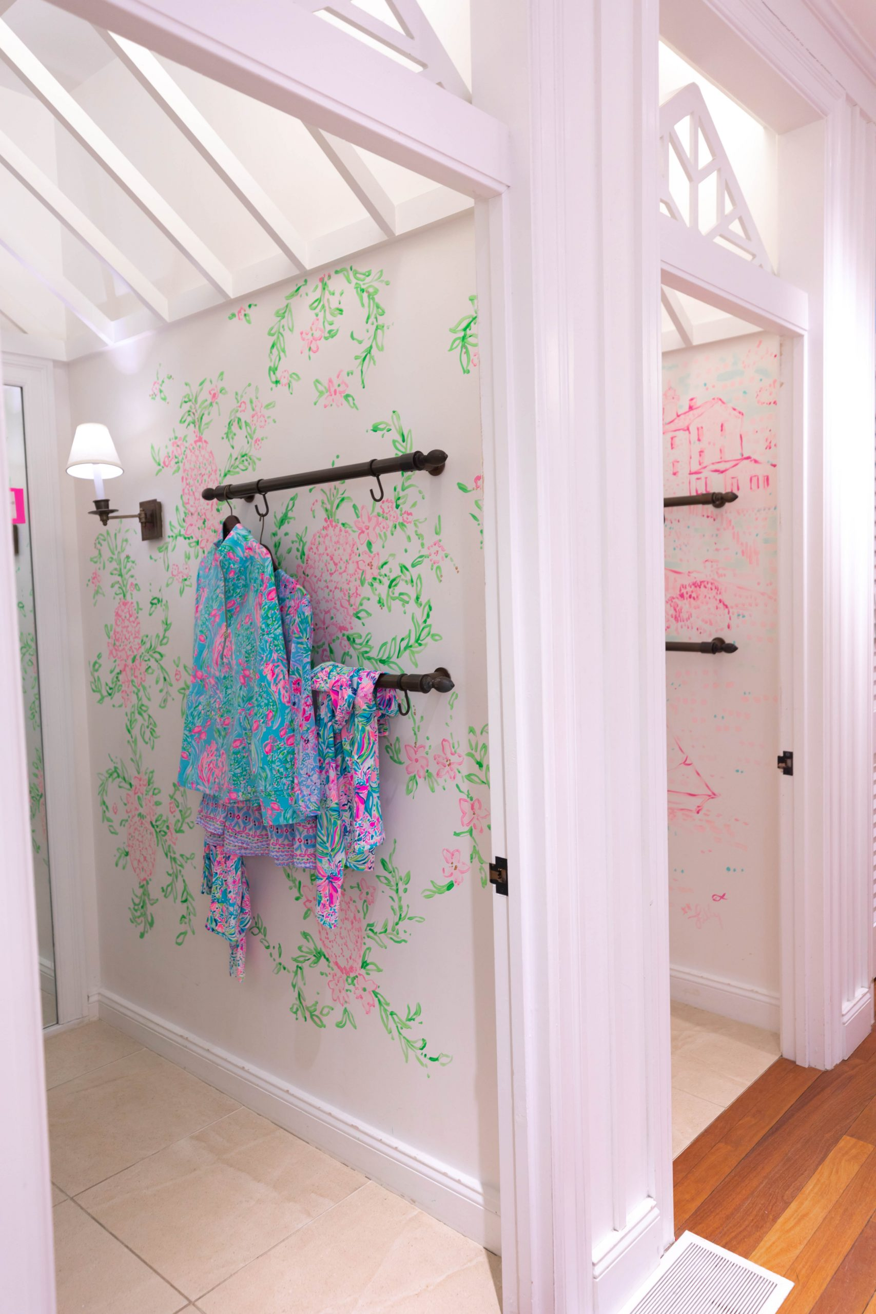 Lilly Pulitzer Greenwich Connecticut Dressing Room Mural by Annie Fairfax