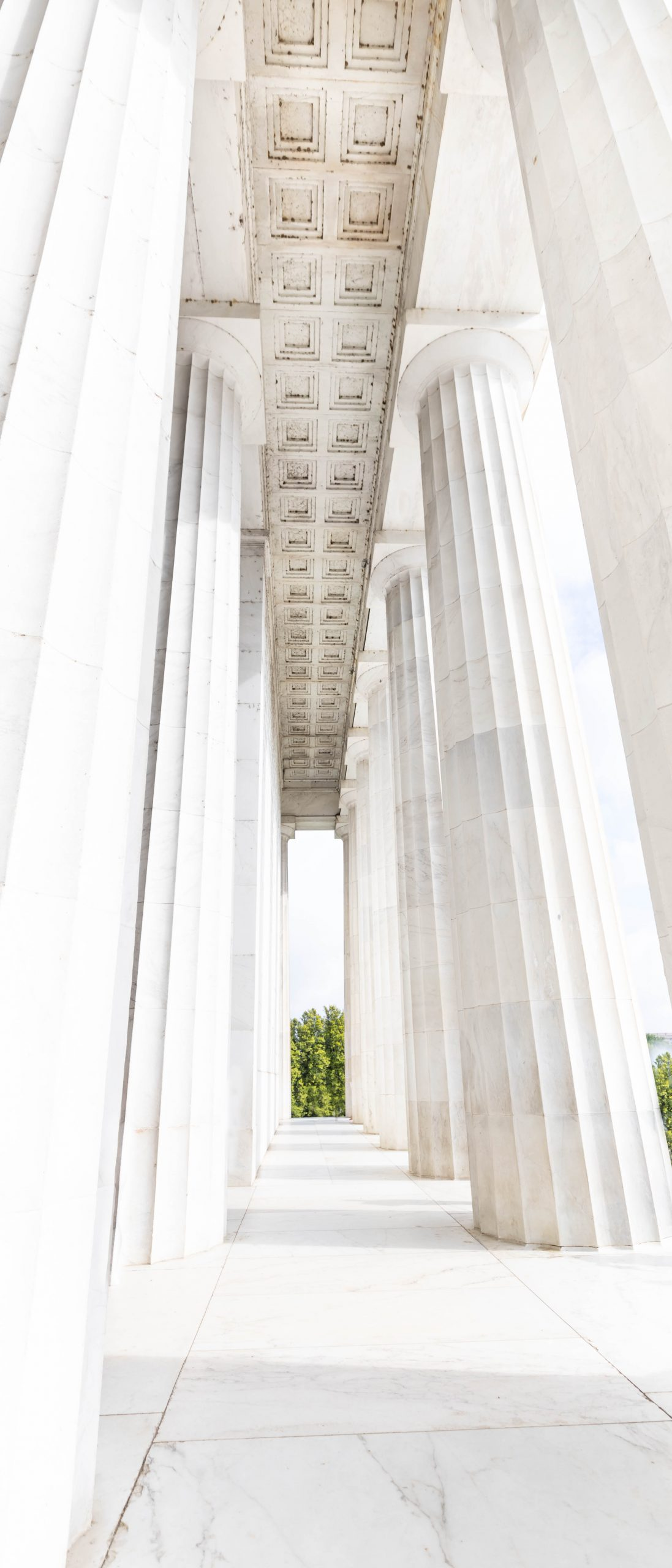 Washington D.C. Lincoln Memorial Building Photographed by Annie Fairfax Roman Greecian Columns Marble Pillars