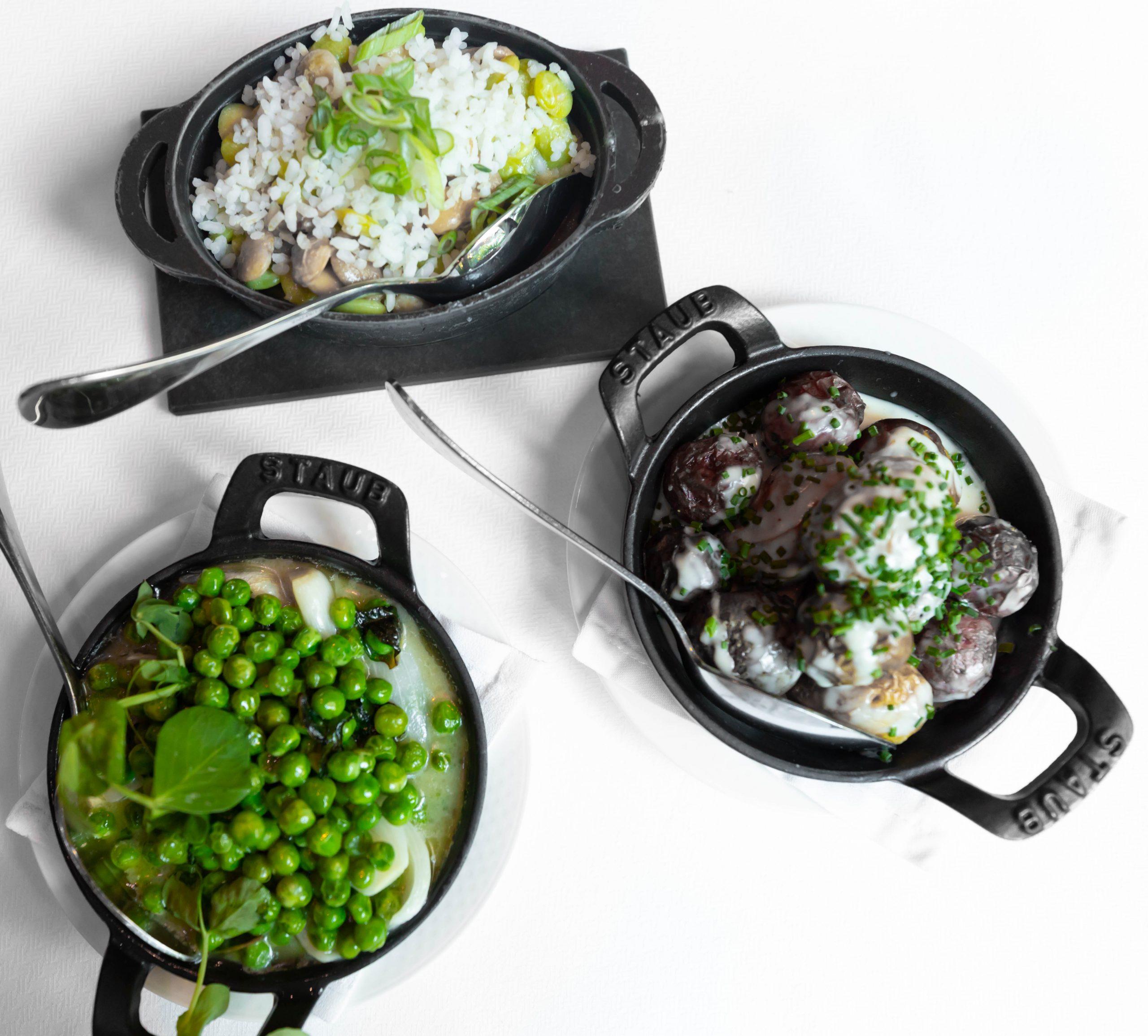 Charleston Grill Side Dishes in Staub Cookware Charleston South Carolina by Annie Fairfax