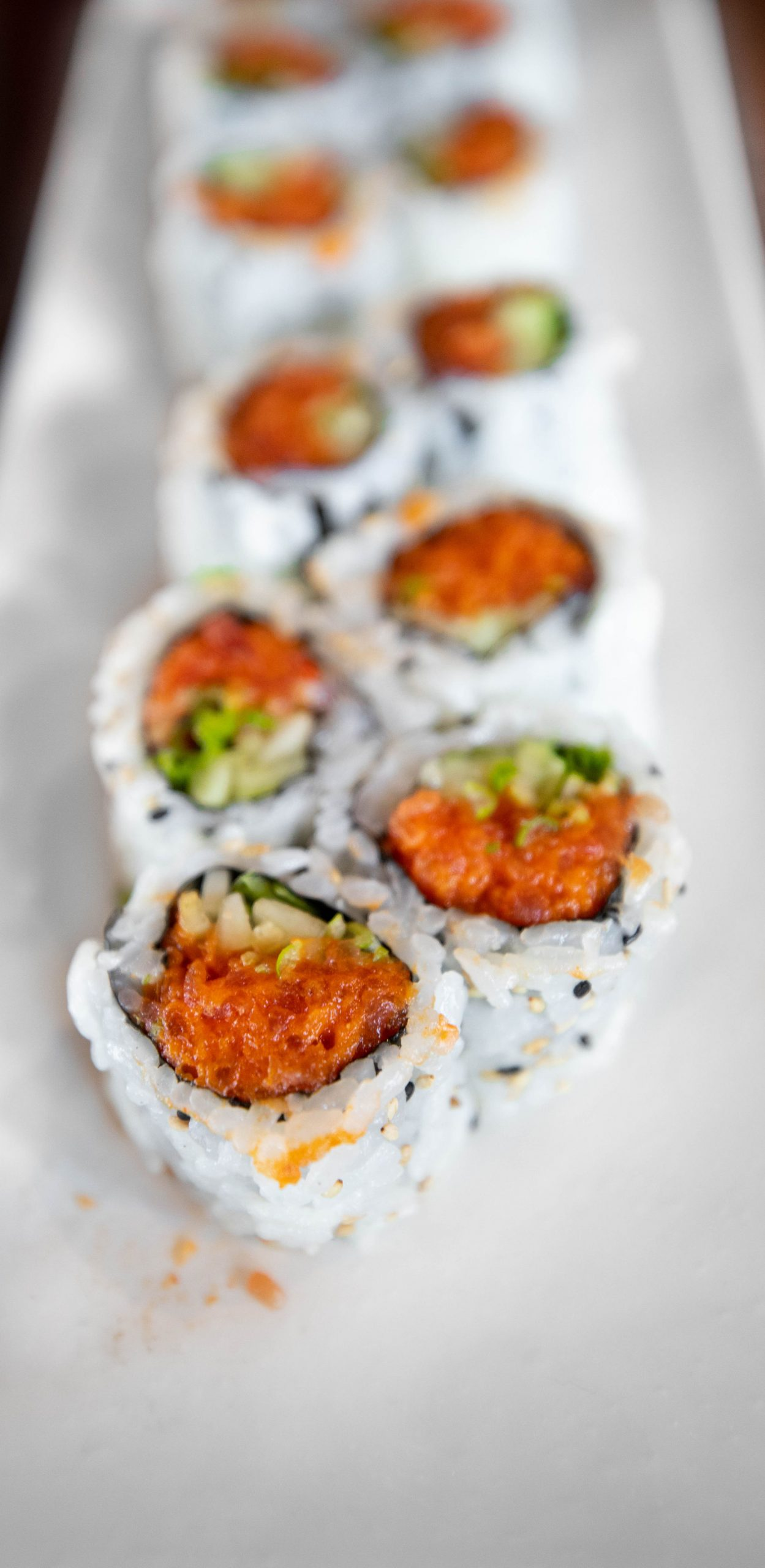 Spicy Tuna Rolls at Rükuya Japanese, Chinese Thai Restaurant Bento Box Lunch in Georgetown Washington DC photographed by Luxury Travel Writer Annie Fairfax