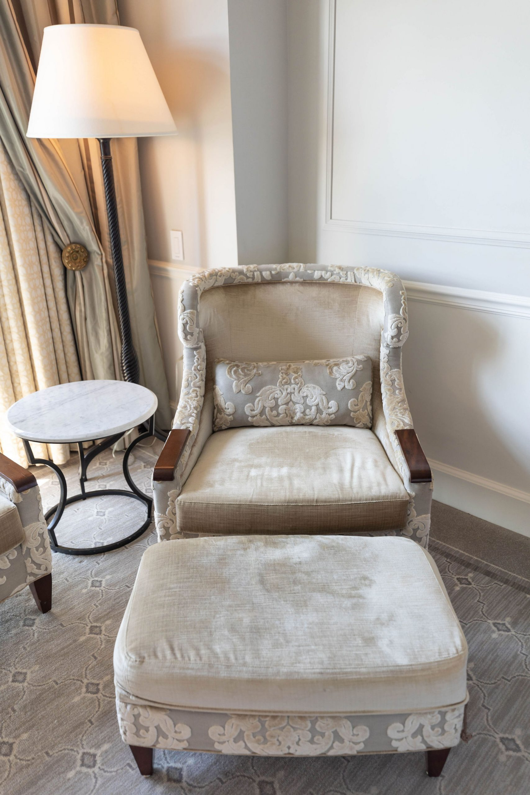 Premier King Room with Balcony at Belmond Charleston Place luxury Hotels of the World South Carolina Resorts Written & Photographed by Annie Fairfax