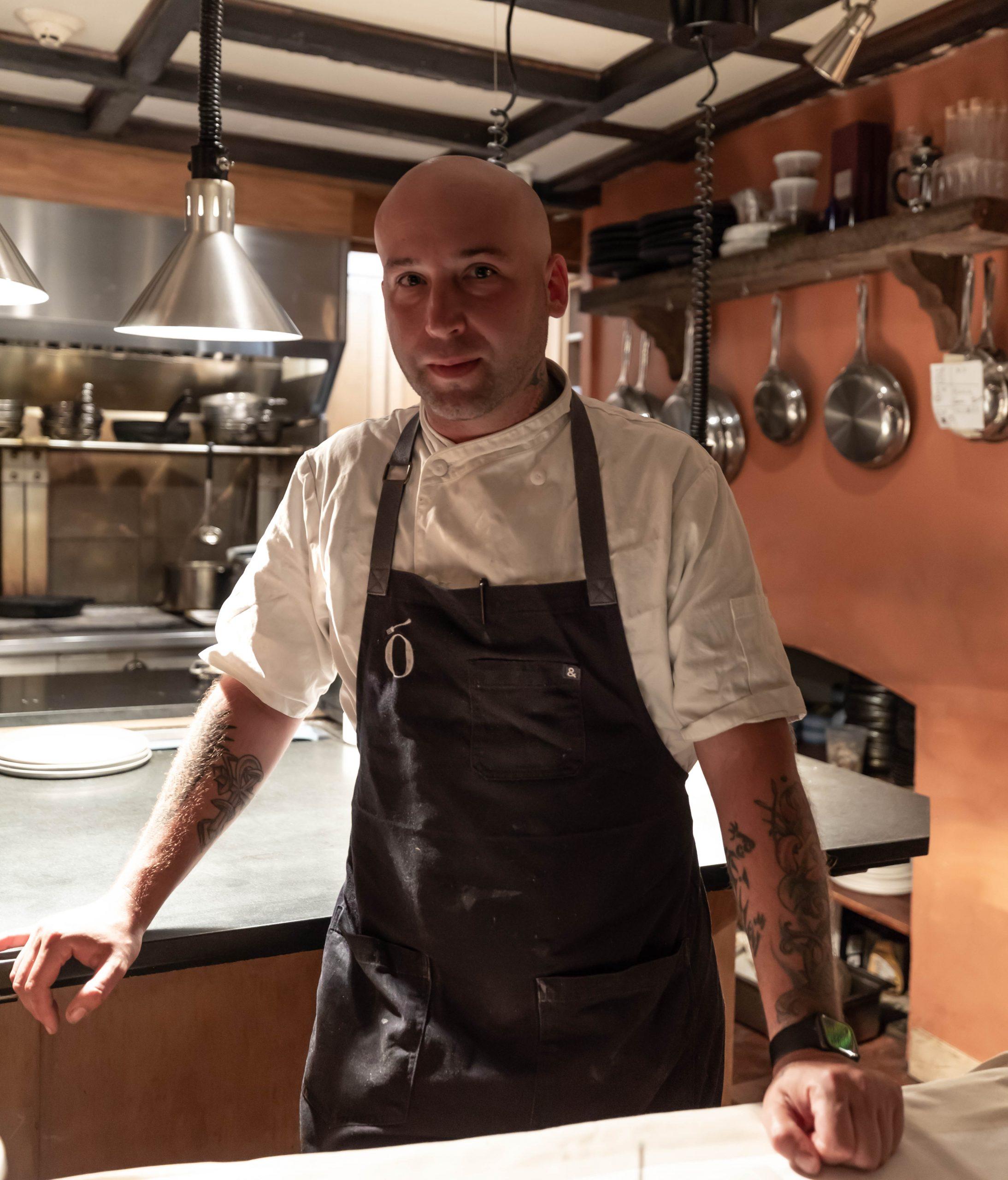 Chef Vinson Petrillo at Zero George Restaurant + Bar in Charleston South Carolina Photographed by Luxury Travel Writer Annie Fairfax