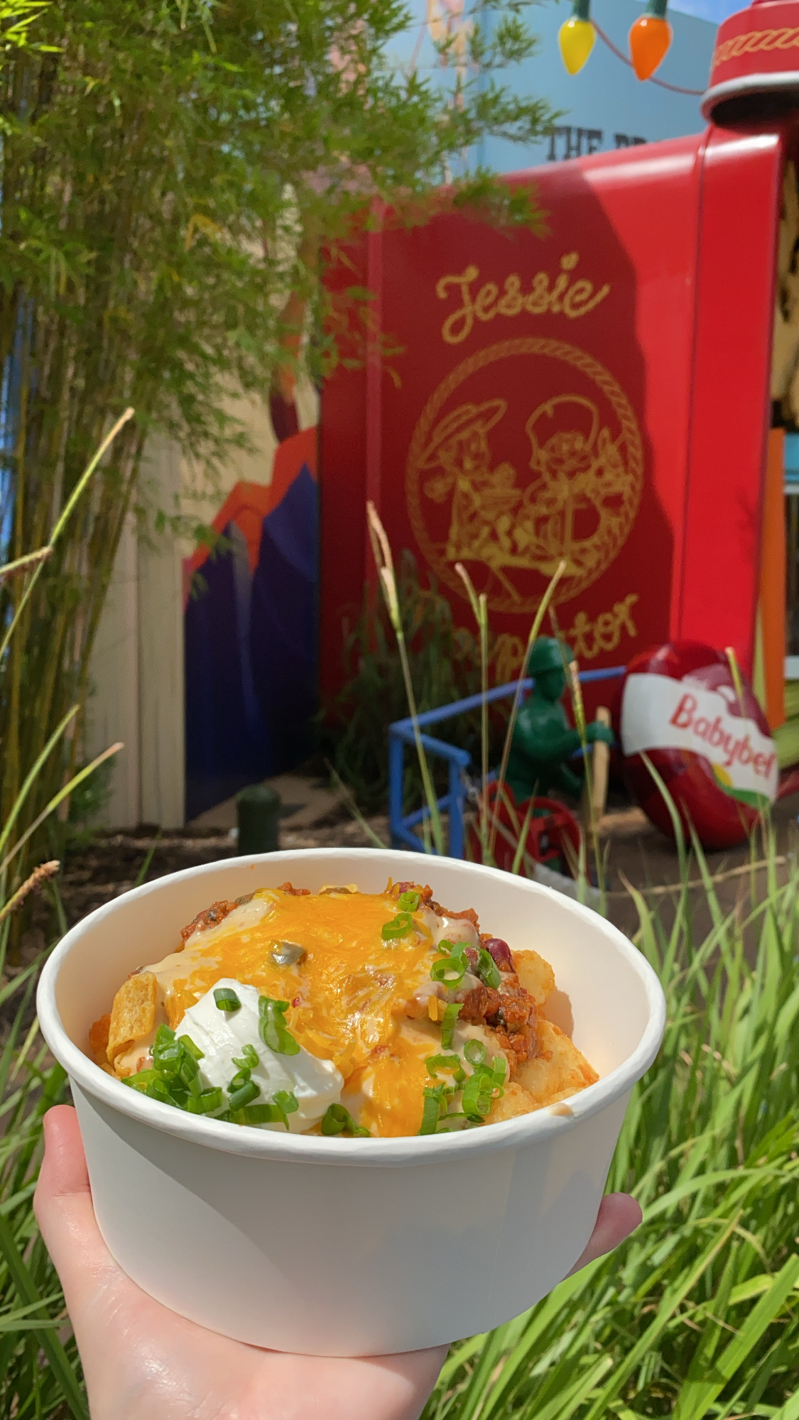 Totcho Tater Tot Nachos at Toy Story Land Woody's Lunch Box Photographed by Annie Fairfax