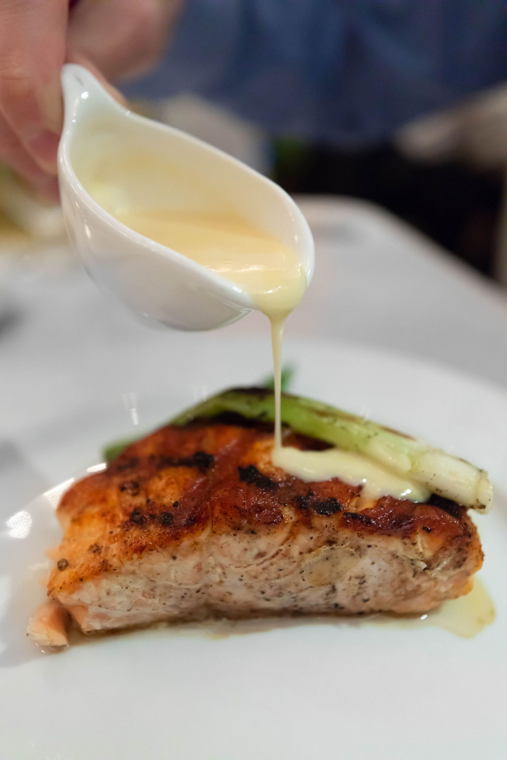 Grilled Salmon at Peninsula Grill in Charleston South Carolina Luxury Travel Guide by Annie Fairfax