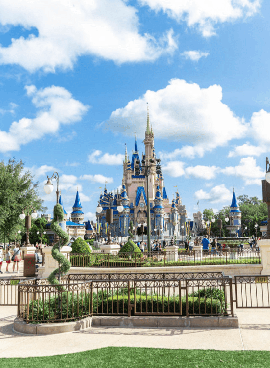 Walt Disney World Press Trip Orlando Florida Content Creation Event for Adults #HappyPlace Cinderella Castle and Hub Grass Photographed and Written by Luxury Travel Writer Annie Fairfax